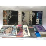 Twelve jazz LPs by various artists including Thelo