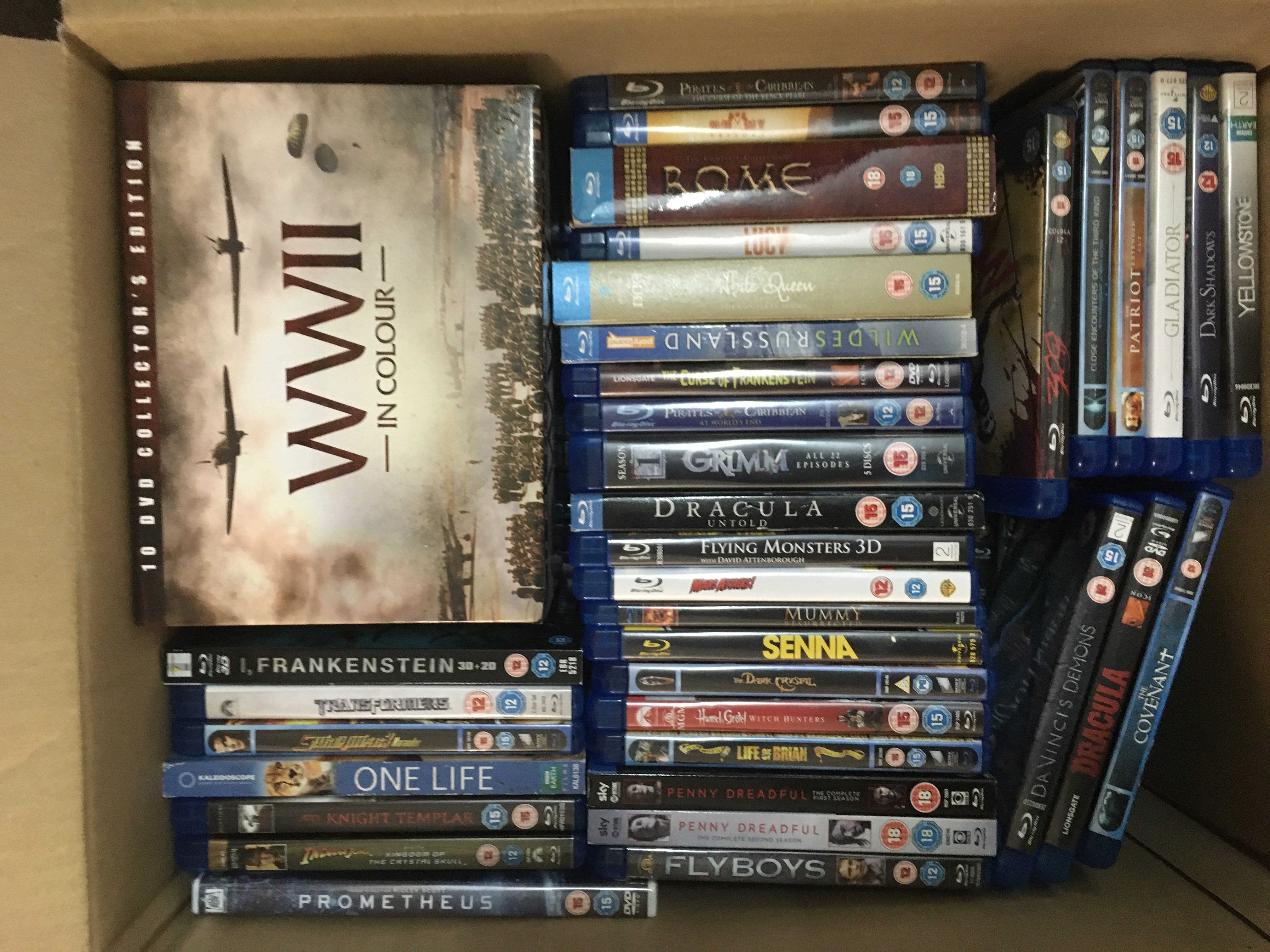 A box of blu rays, various titles. - Image 2 of 2