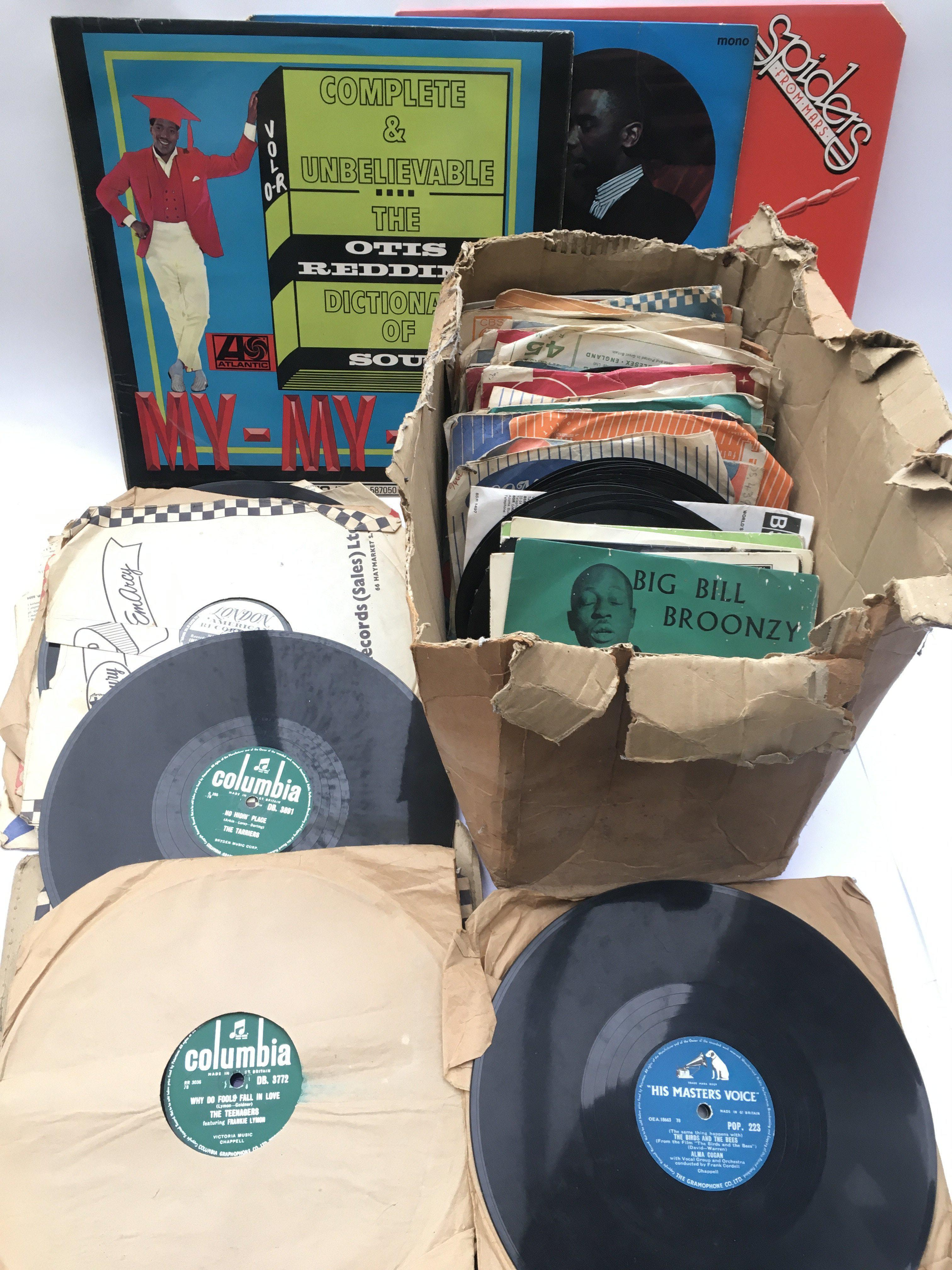 A collection of 7inch singles, 78s and LPs by vari