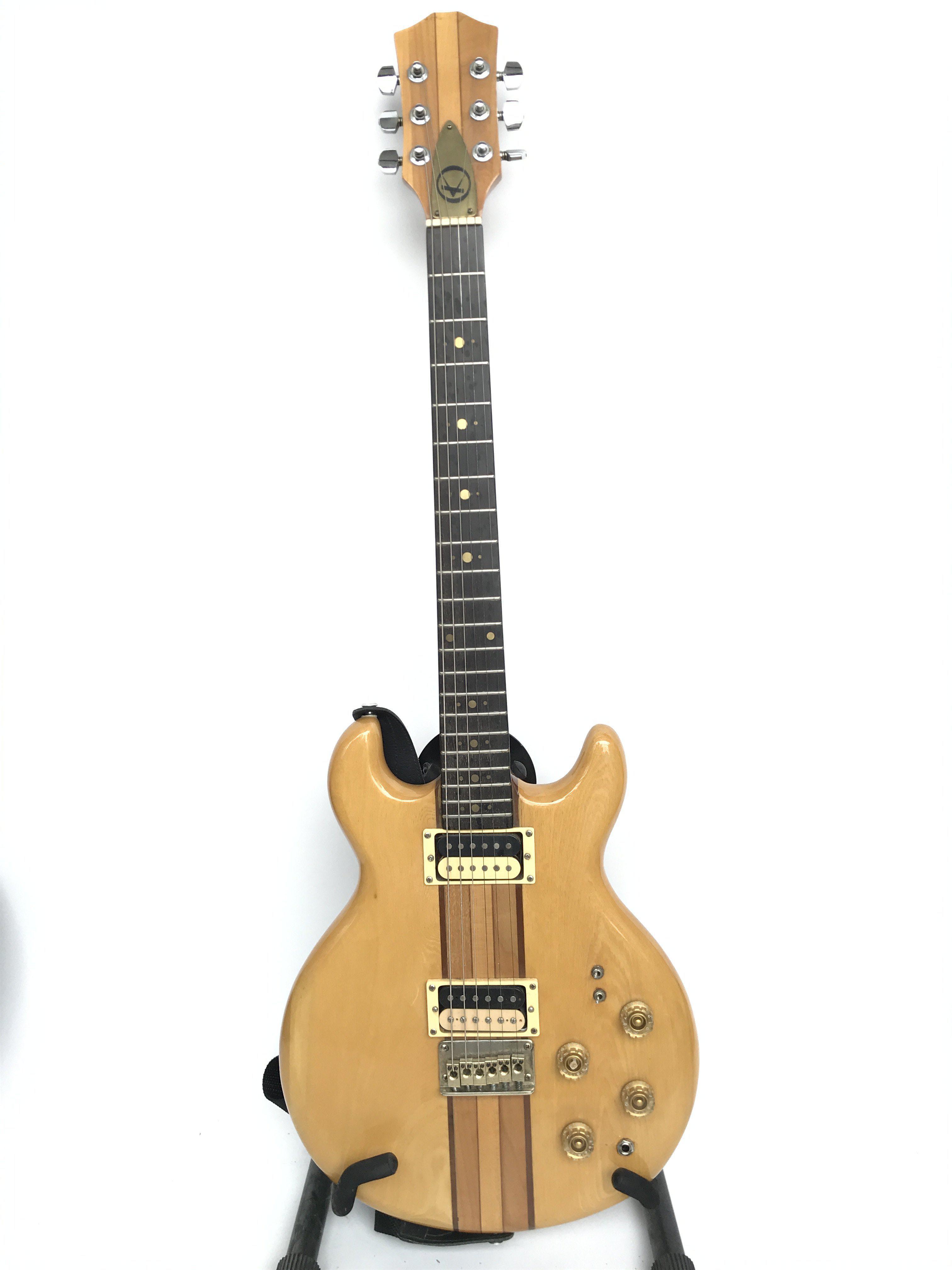 An unusual Kay neckthru body electric guitar, made