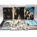 Six early UK pressings of Rolling Stones LPs compr