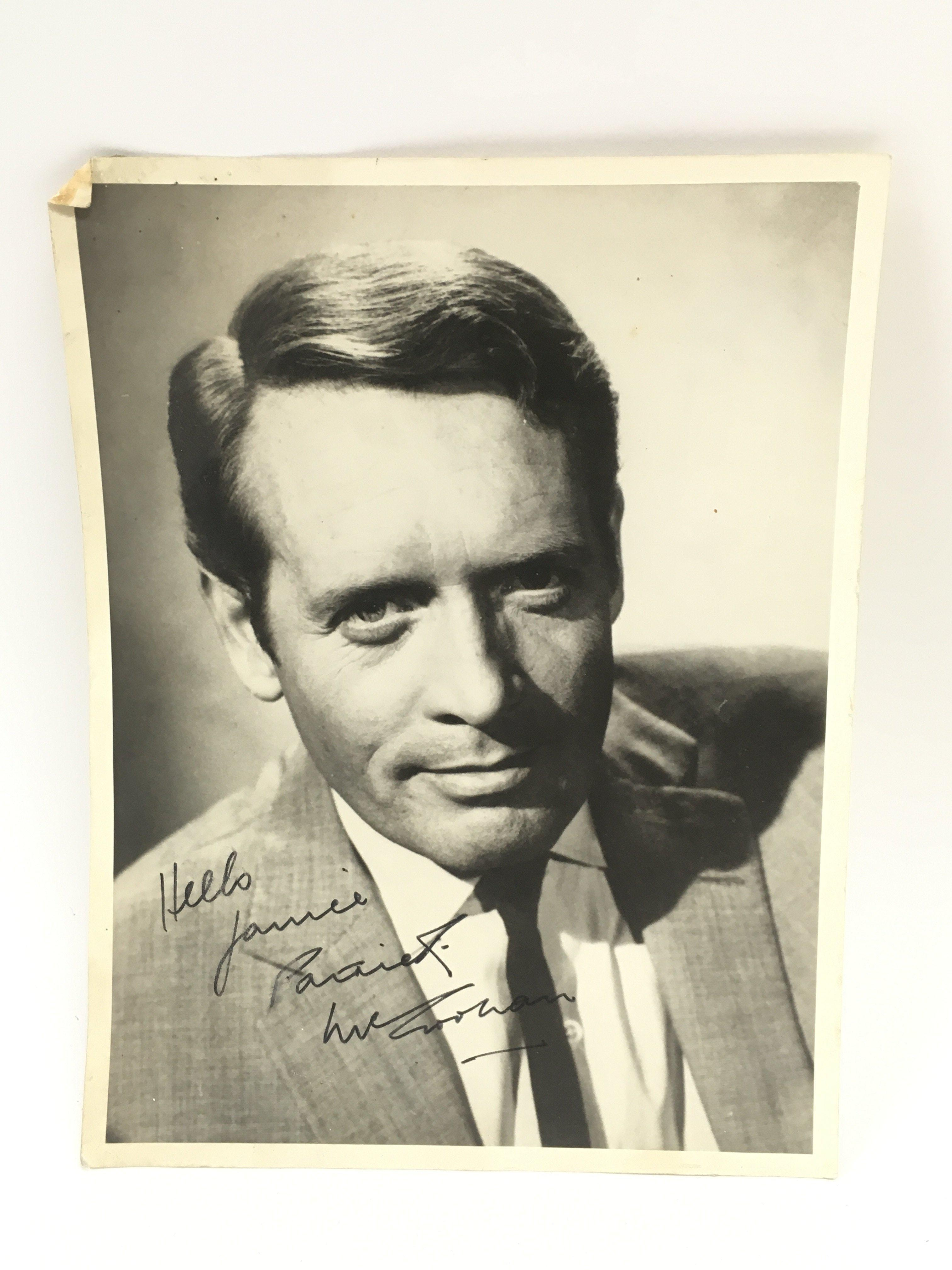 A signed photo of Patrick McGoohan, approx 16.5cm