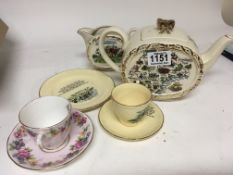 A Melba ware Coffee set Devon pottery and other ce
