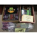 Two boxes of JRR Tolkien hardback books including
