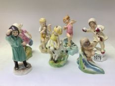 """Royal Worcester """"Months of the year"""" modelled"""