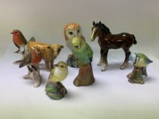 A small collection of animals including Beswick, S