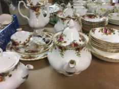 Withdrawn - A Royal Albert country rose tea set including six