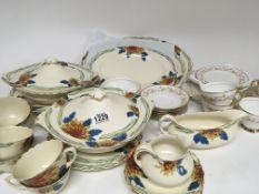 A Vintage decorative Royal Griffon boneChina tea s