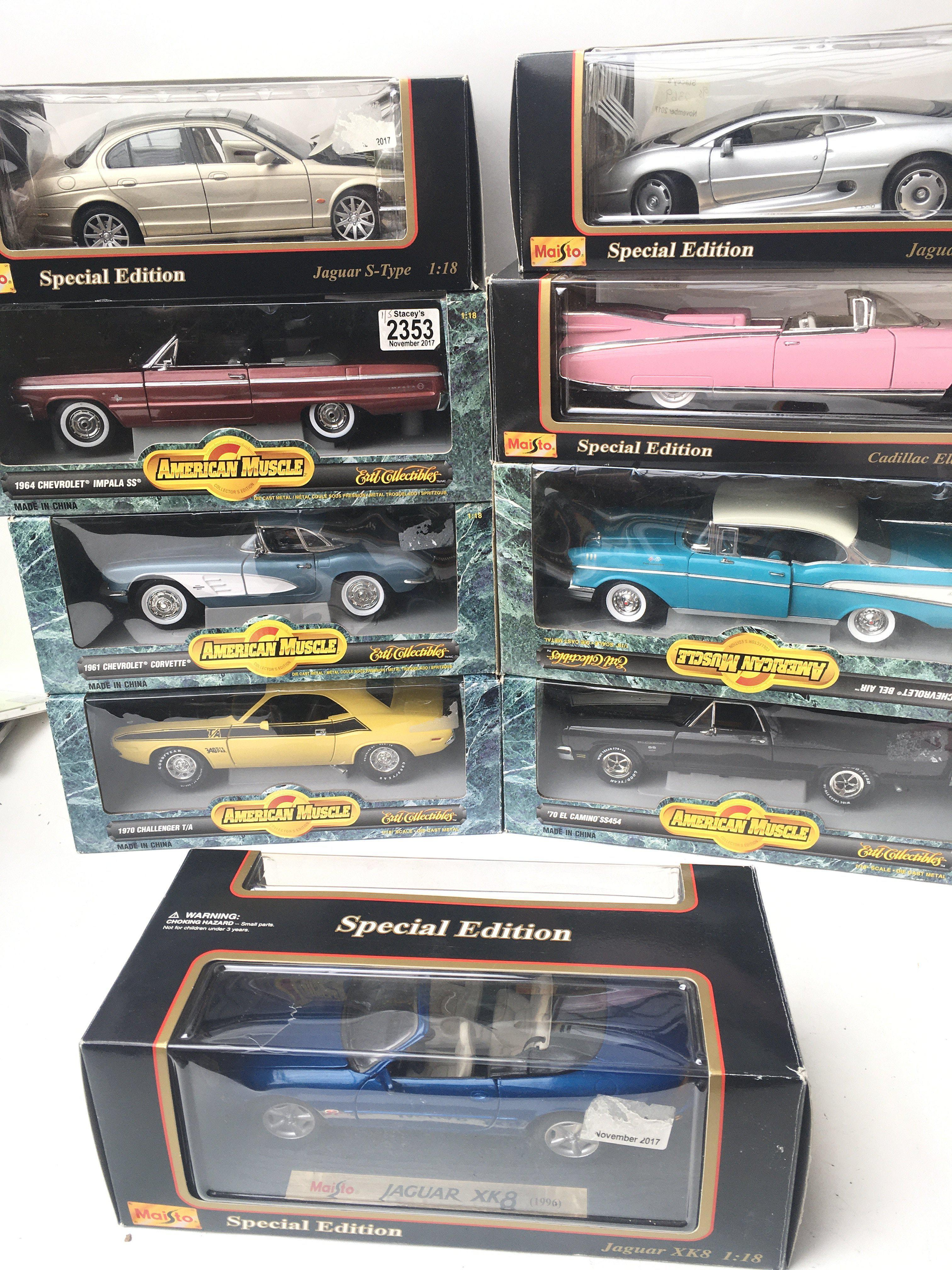 A Collection of American Muscle Cars and Maisto 1: