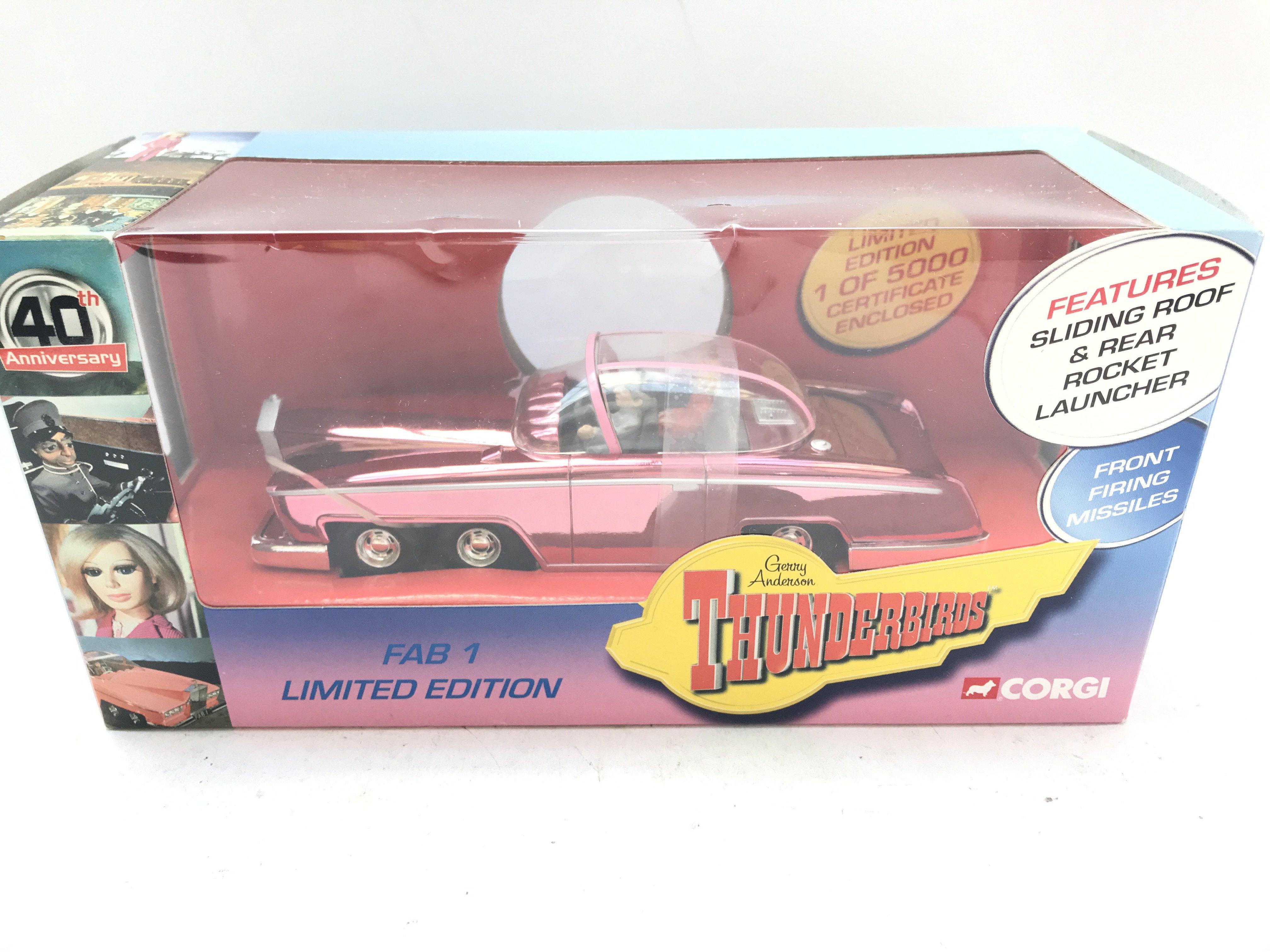 A Boxed Corgi Thunderbirds FAB 1 Limited Edition.