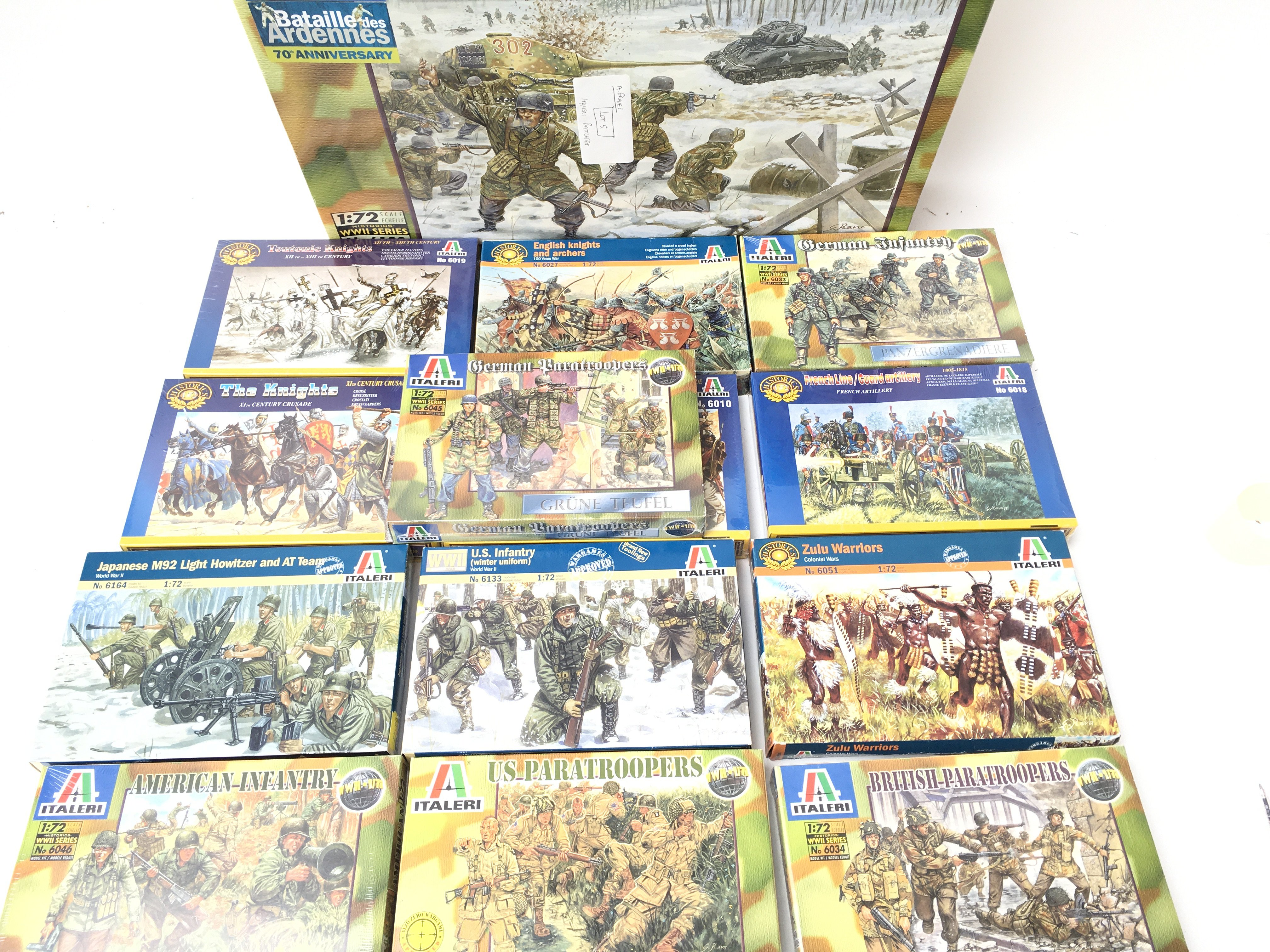 A Collection of Boxed Italeri Plastic Figures Plus