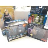 A Collection of Doctor Who models. Including Corgi