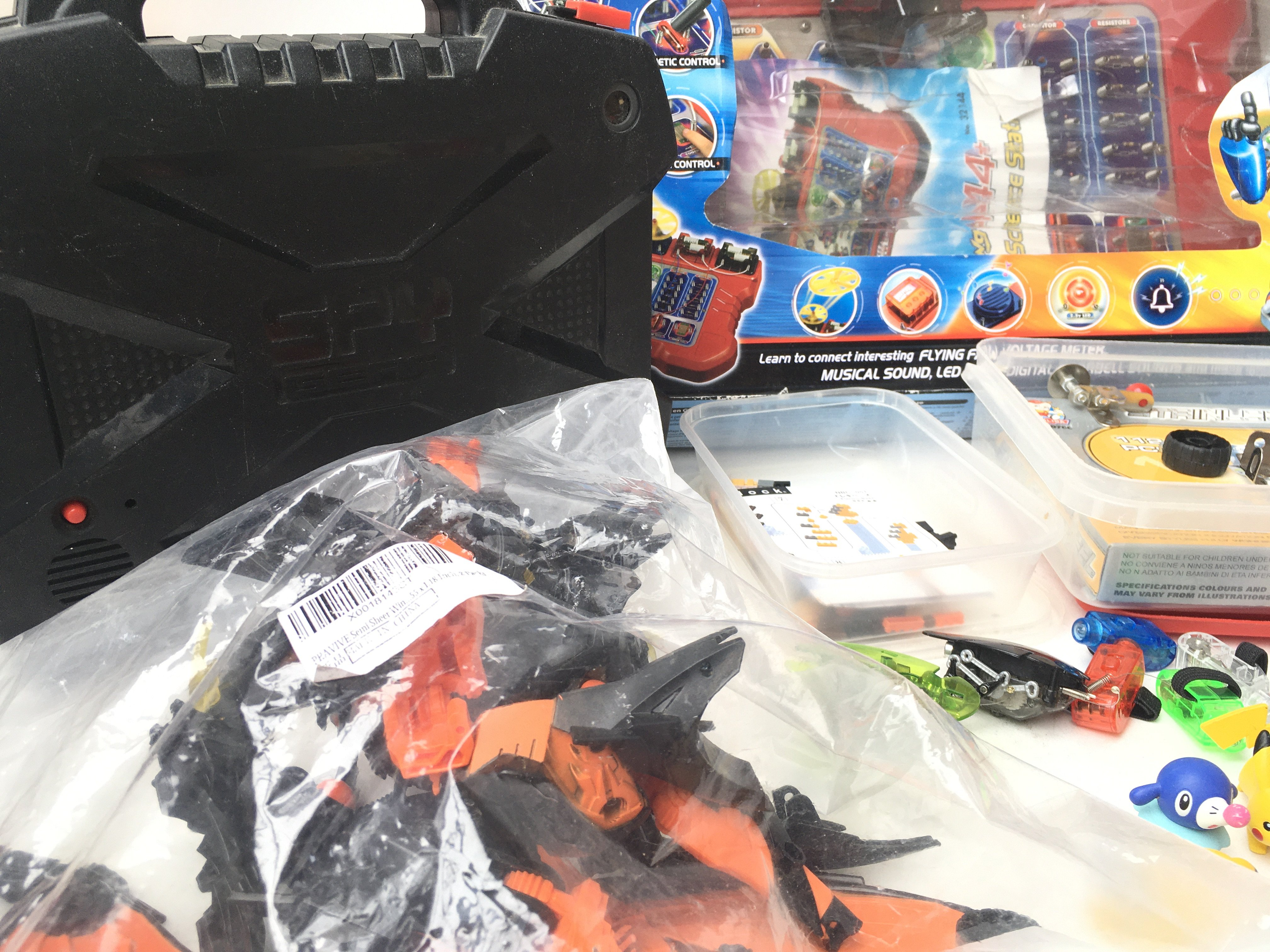 A Collection of Pokemon Figures. A Spy Gear set. A Science Station. 2 X Hex Bugs. Etc. - Image 2 of 2