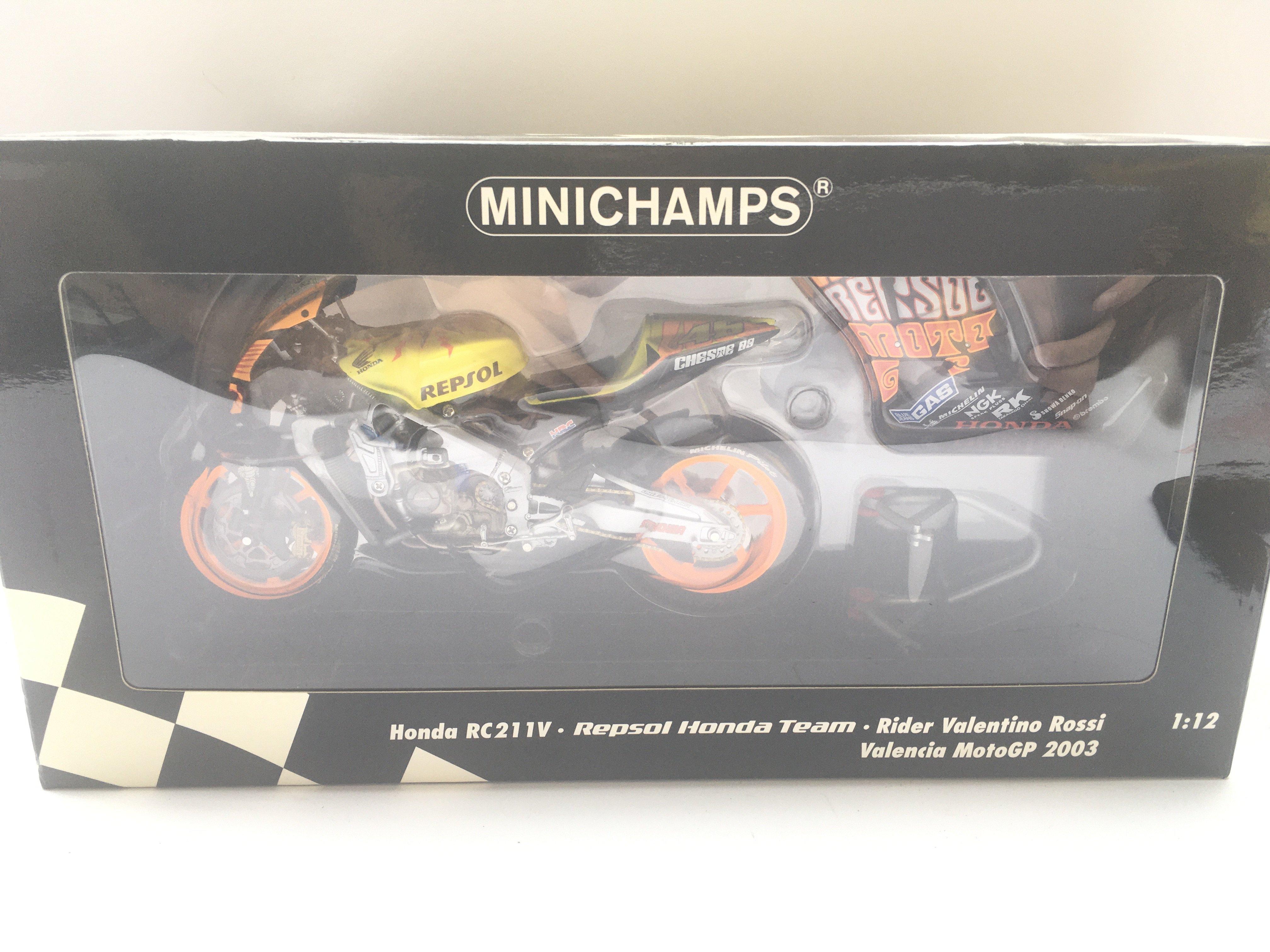 A Minichamps Honda RC211V. Repsol Honda Team. Vale