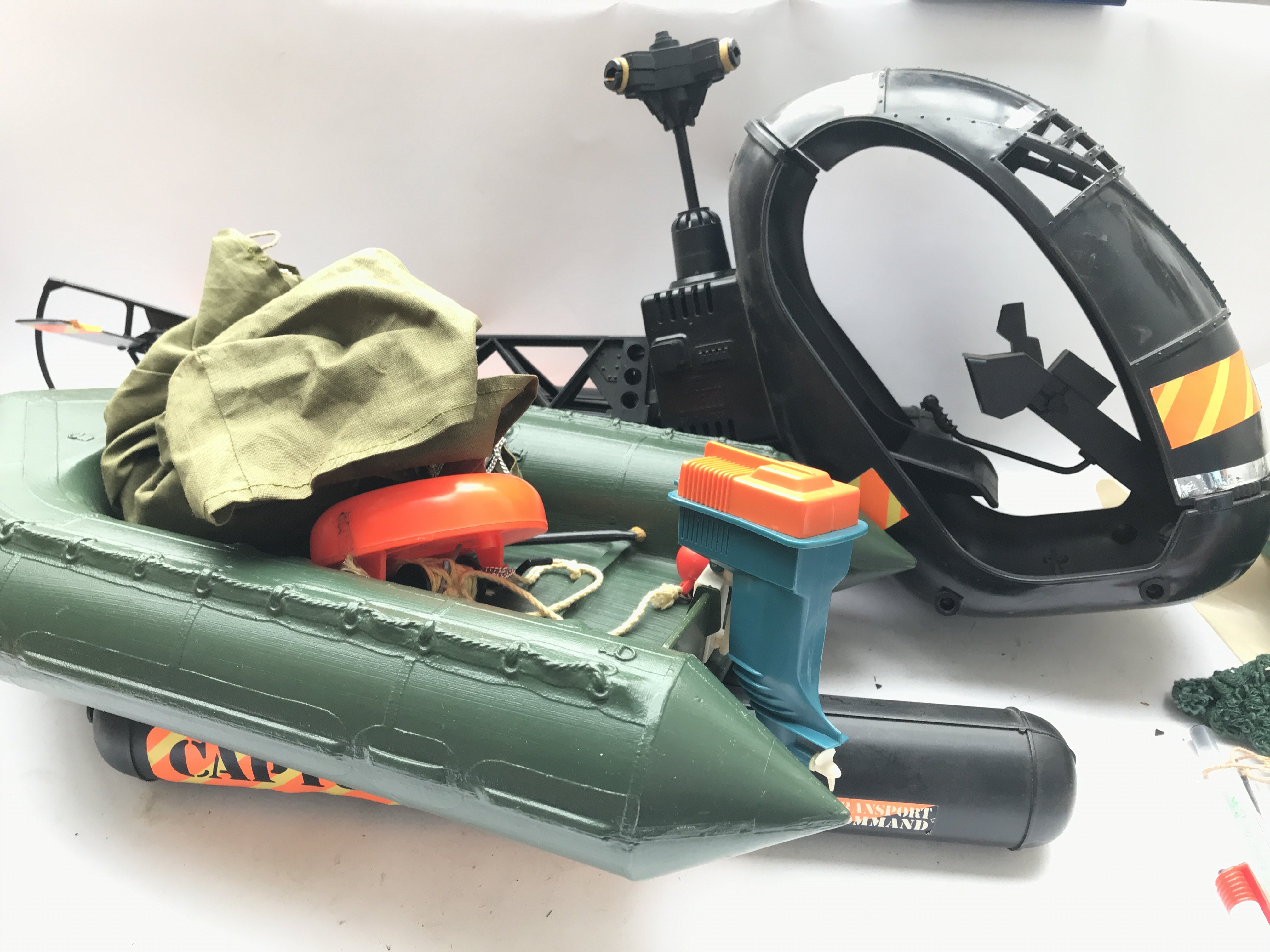 A Vintage Action Man Coper ( Parts Missing) and a