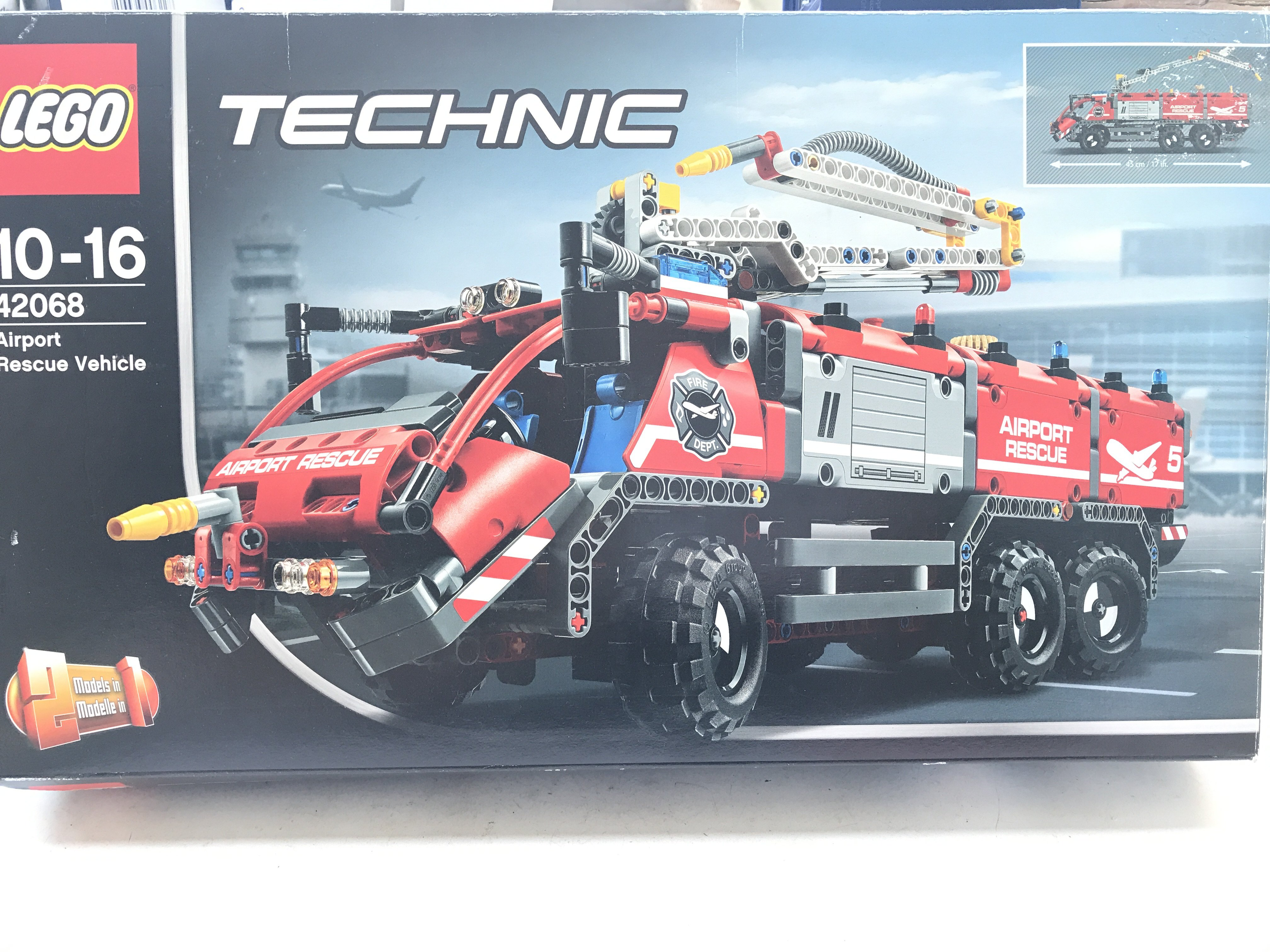 A Boxed Lego Technic Airport Rescue Vehicle #42068