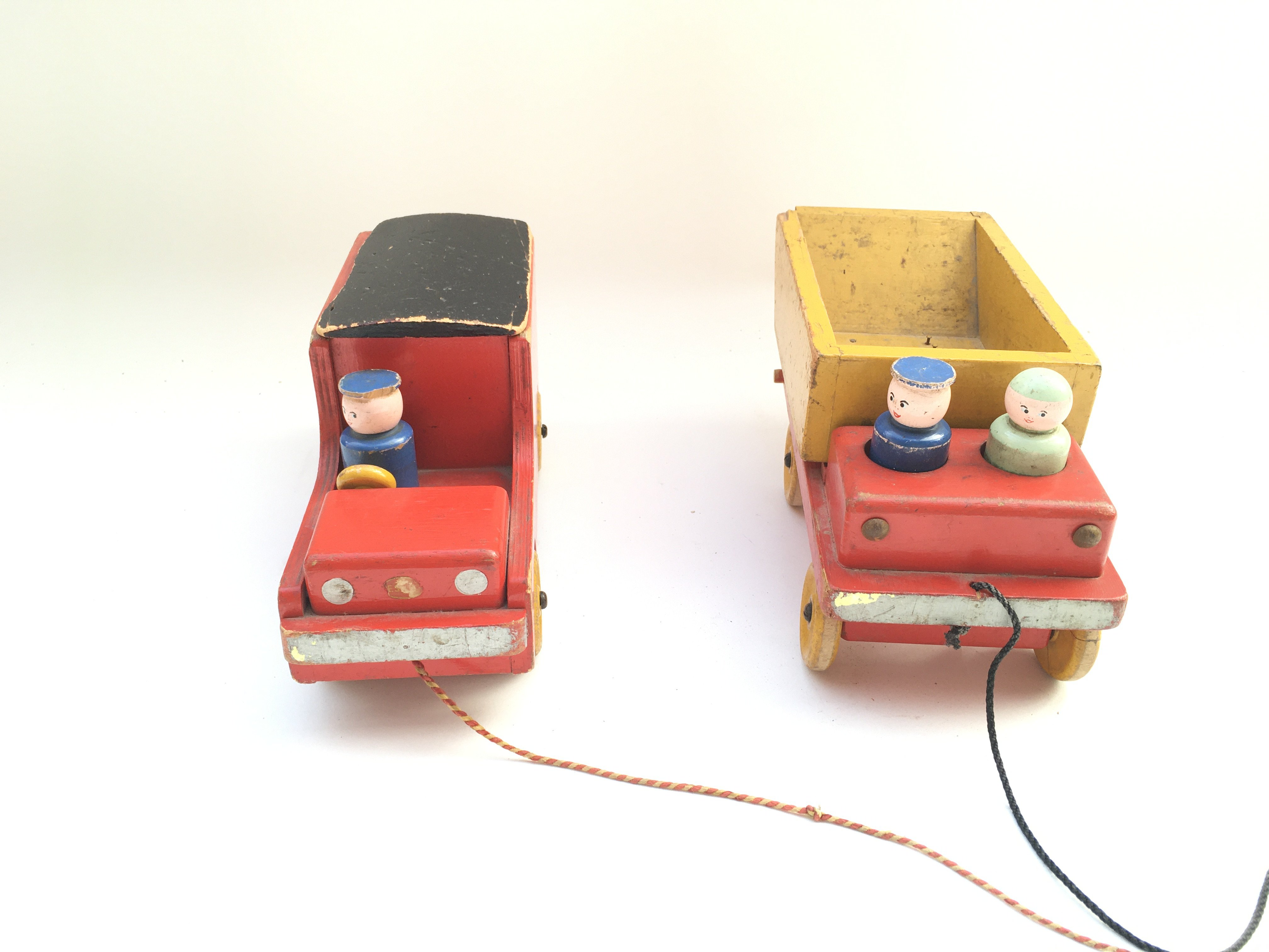 Early vintage wooden Royal Mail van and lorry. - Image 2 of 3