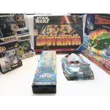 A Box Containing Funko Pop Figures. A Star Wars La