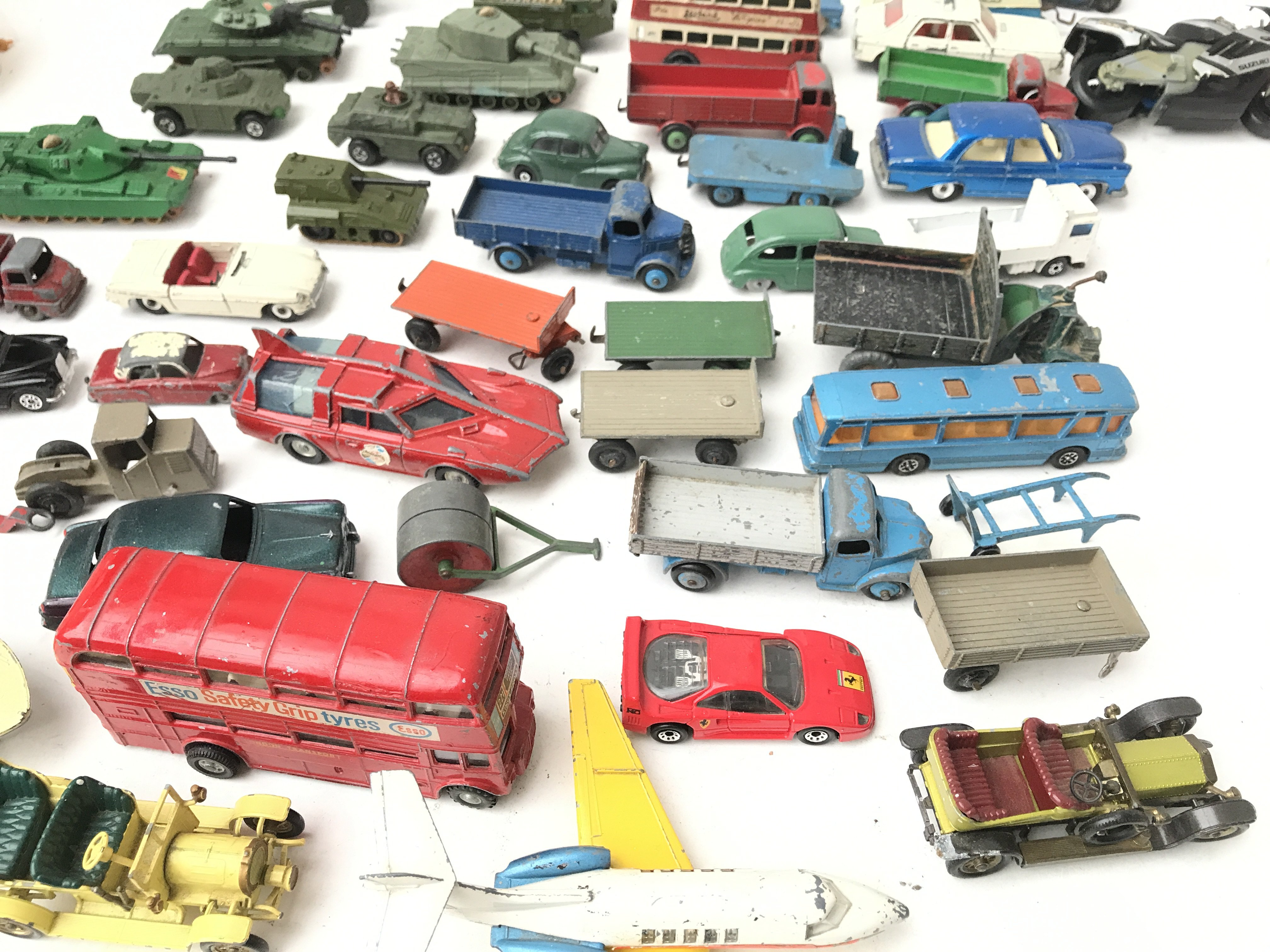 A Box Containing a Collection of Playworn Military Diecast. And Others Including Dinky.Matchbox - Image 4 of 4