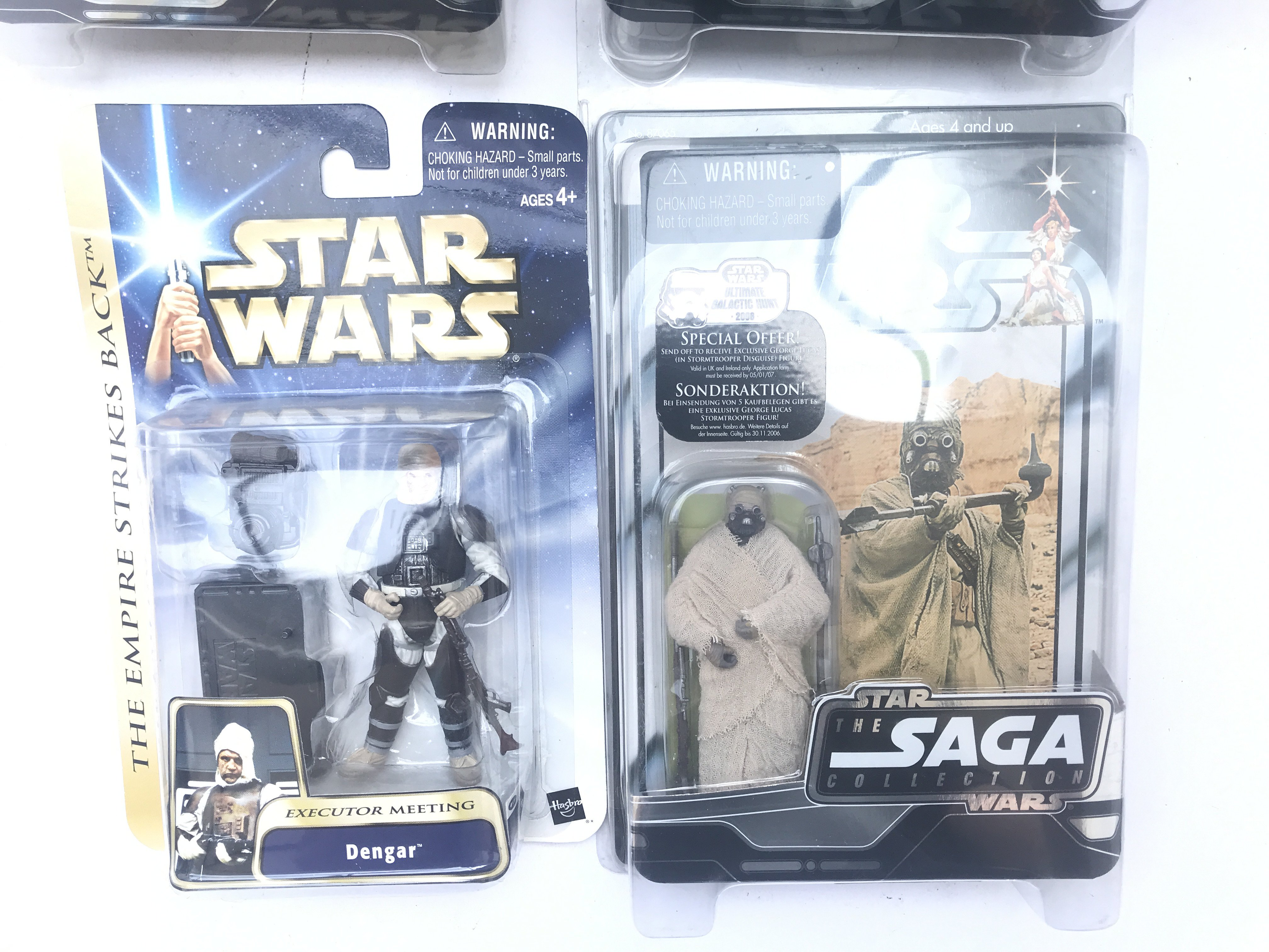 4 X Star Wars Carded Figures including 3 x Saga Co - Image 3 of 3