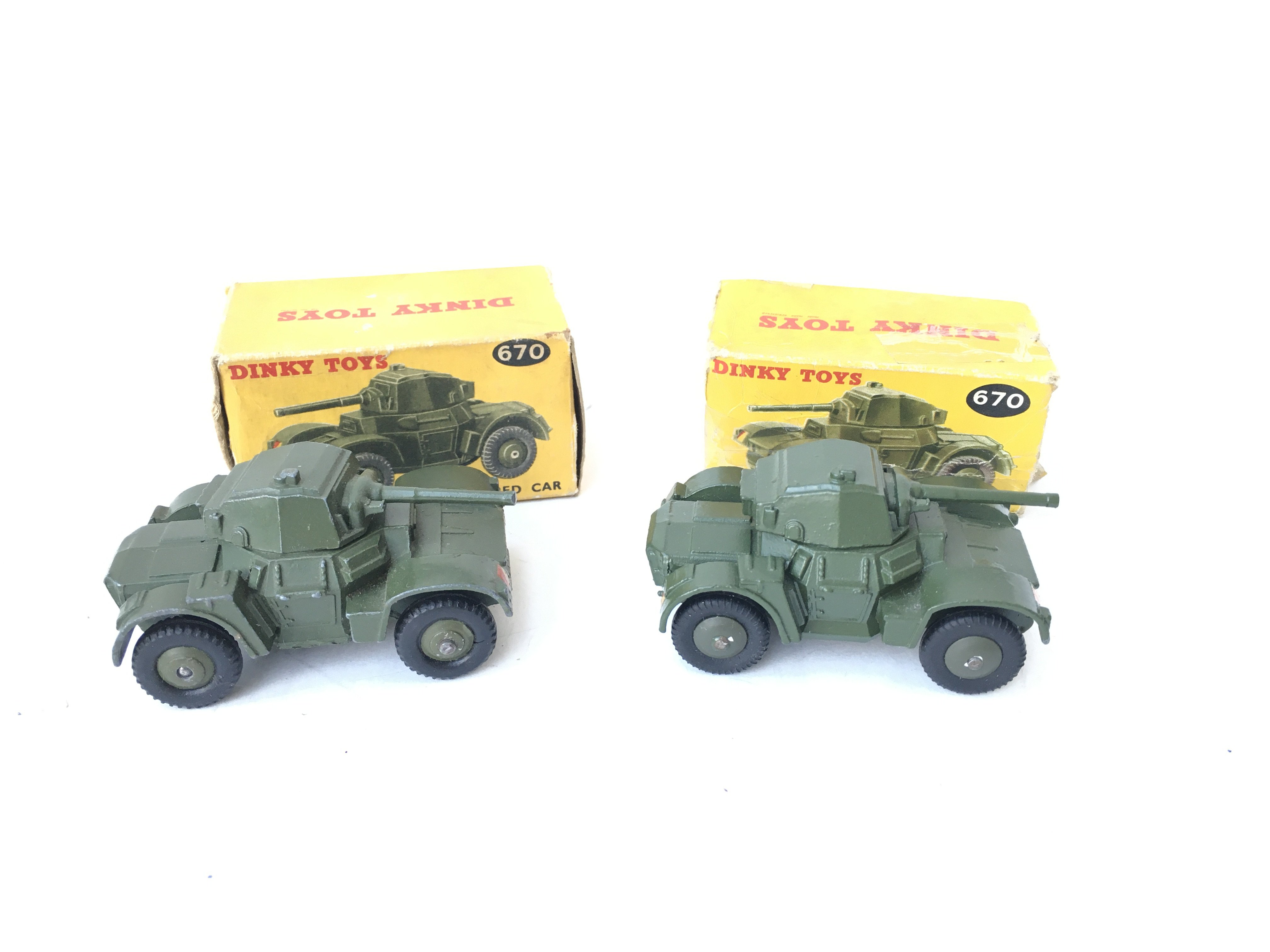 2 X Boxed Dinky Armoured Cars. #670 - Image 2 of 3