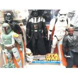 A Collection of Star Wars 18inch figures including