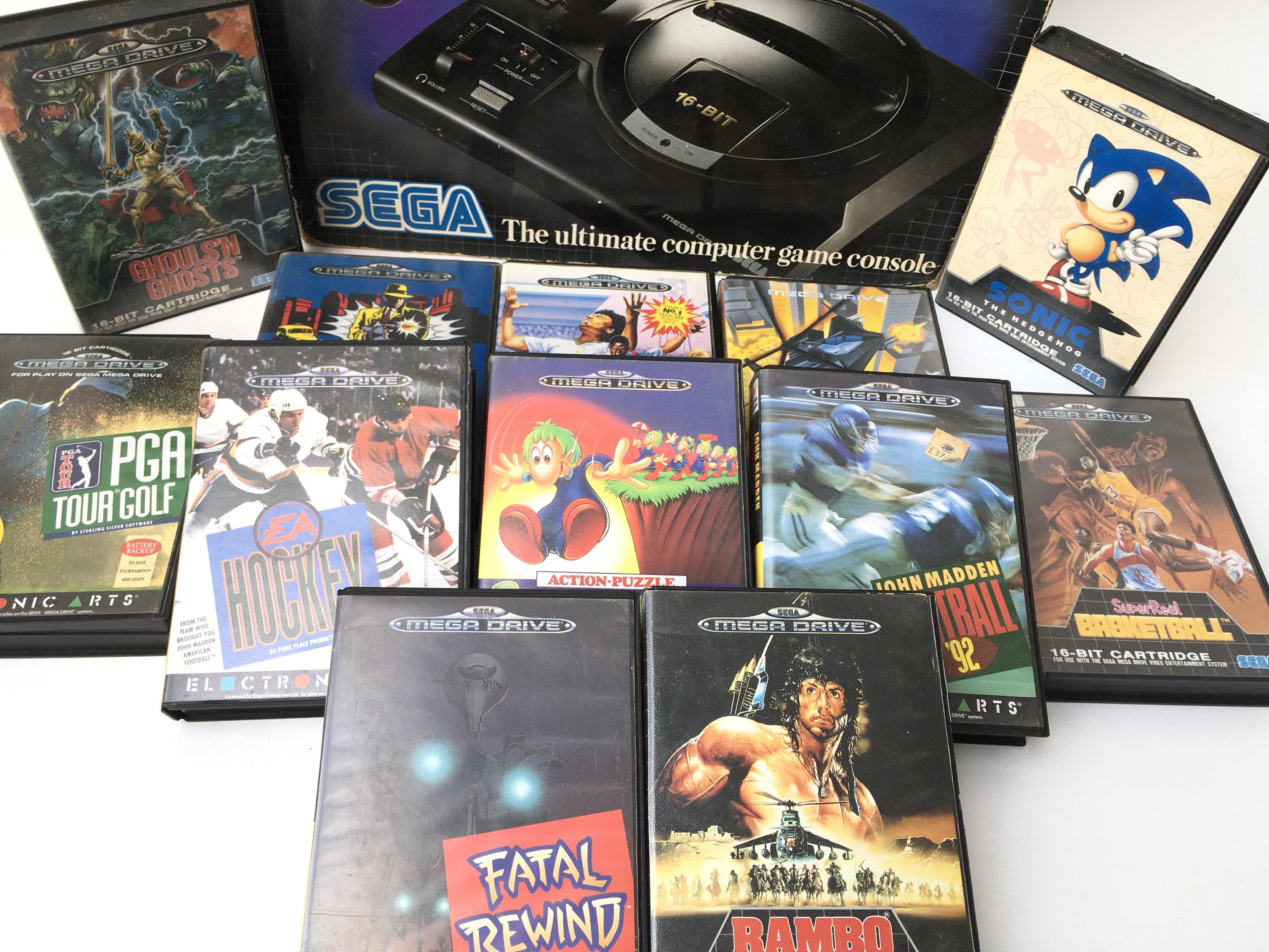 A Boxed Sega Mega Drive with games. - Image 2 of 2