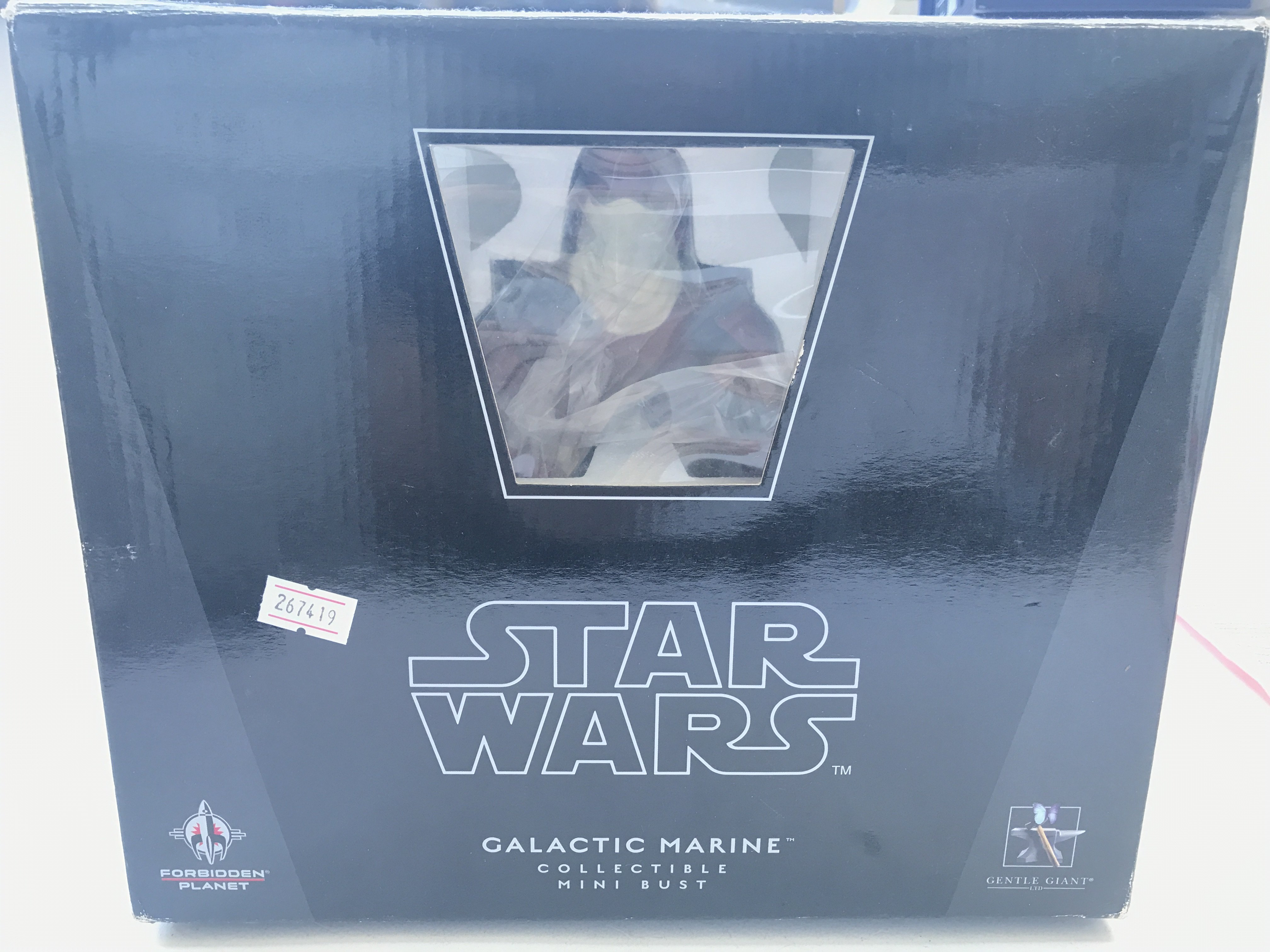 A Star Wars Gentle Giant Galactic Marine Bust.Boxe