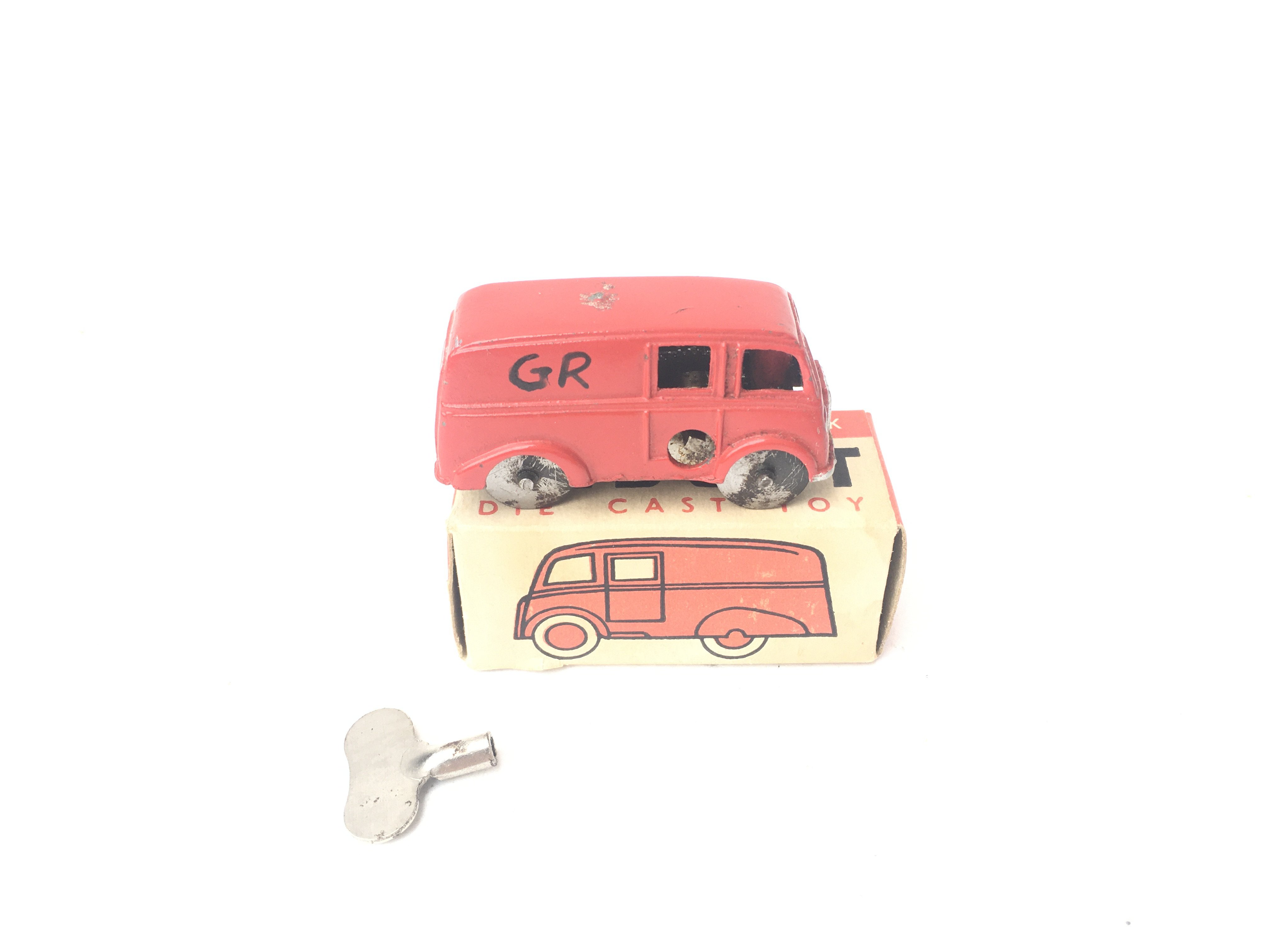 A Boxed Chad Valley Midget Van. With Key. - Image 2 of 2