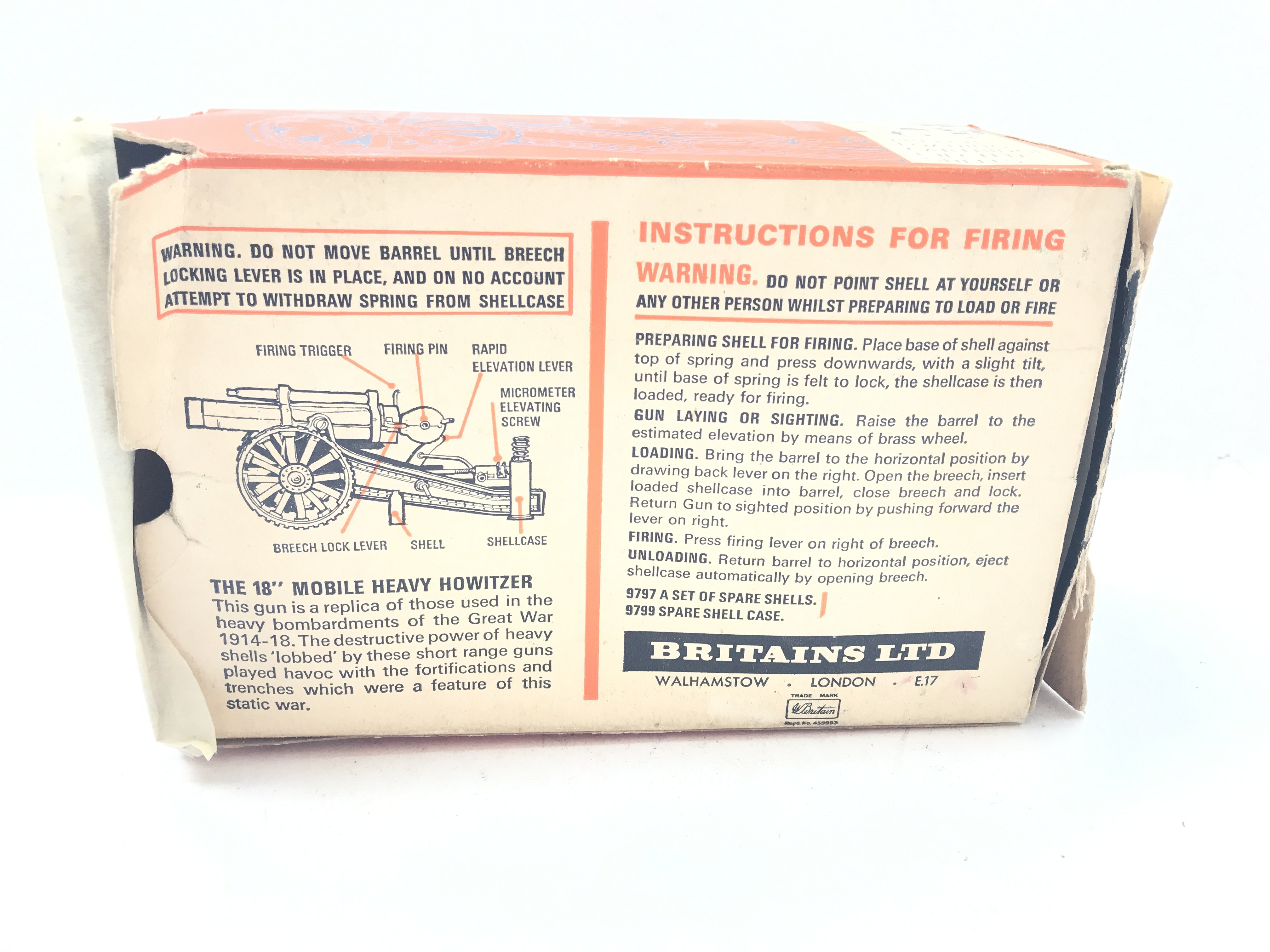 """A Boxed Britain's 18"""" Heavy Howitzer complete with - Image 3 of 3"""