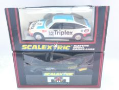 2 X Boxed Scalextric Cars including Jaguar XJ220 #