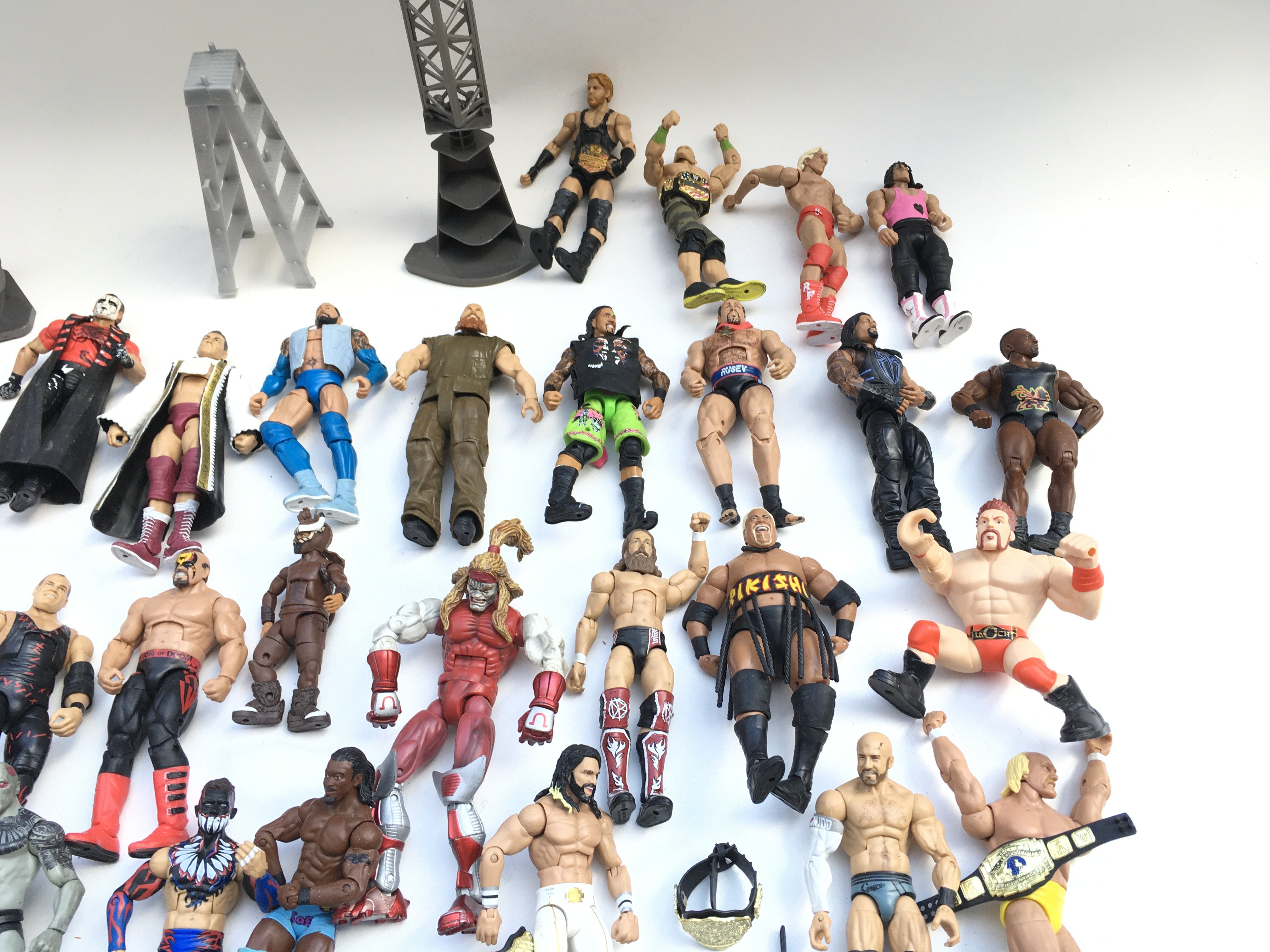 Large collection of WWE wrestling figures. - Image 3 of 3