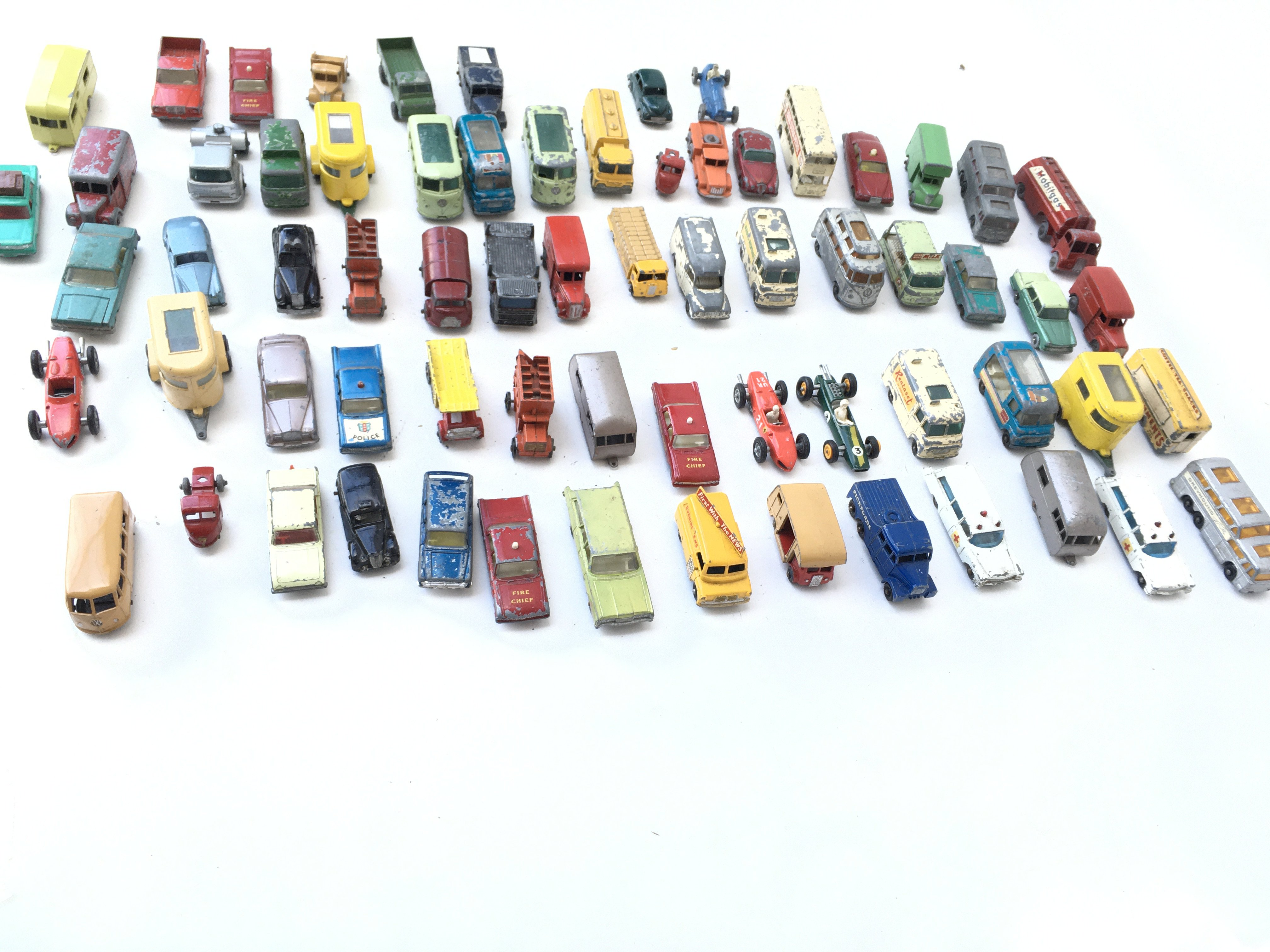 A Collection of Playworn Vehicles including Lesney - Image 2 of 4