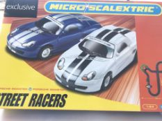 2 X Micro Scalextric sets including McLaren MP4-12