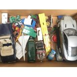 A Box Containing Various Die-Cast.