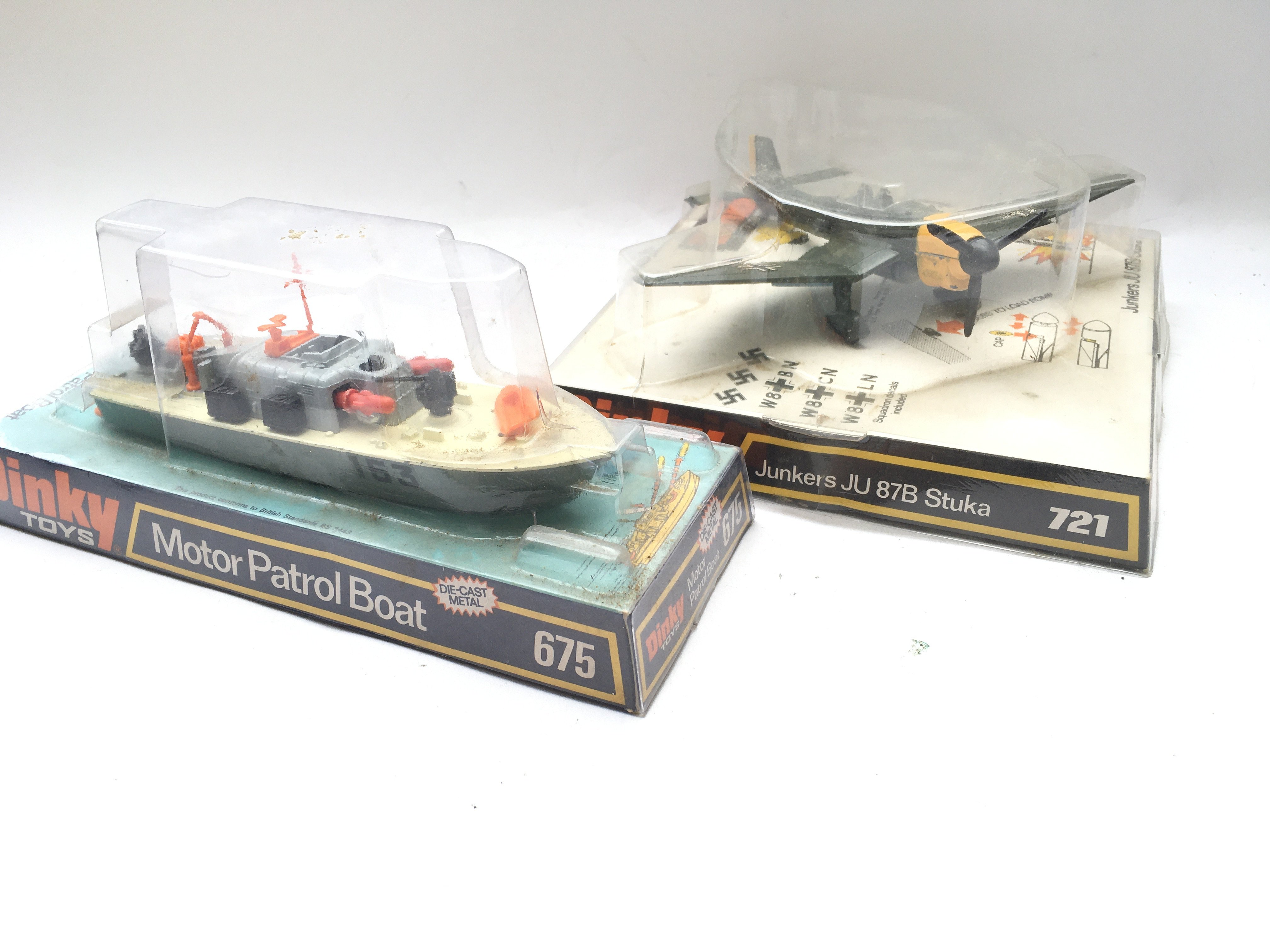 A Dinky Toys Motor Patrol Boat boxed #675 and a ju