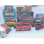 A Box Containing a Collection of Busses including