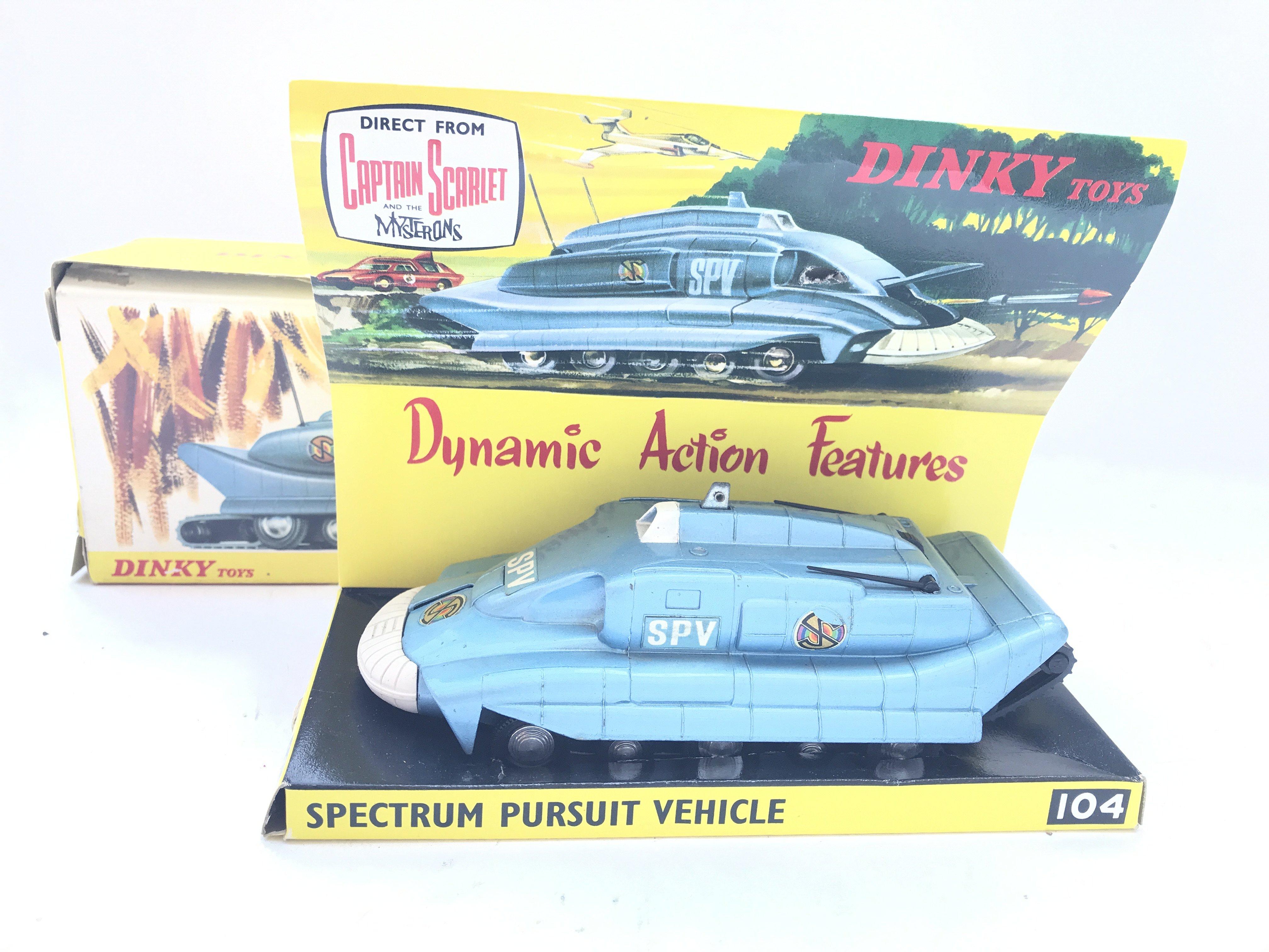 A Dinky Toys Spectrum Pursuit Vehicle Boxed. #104.