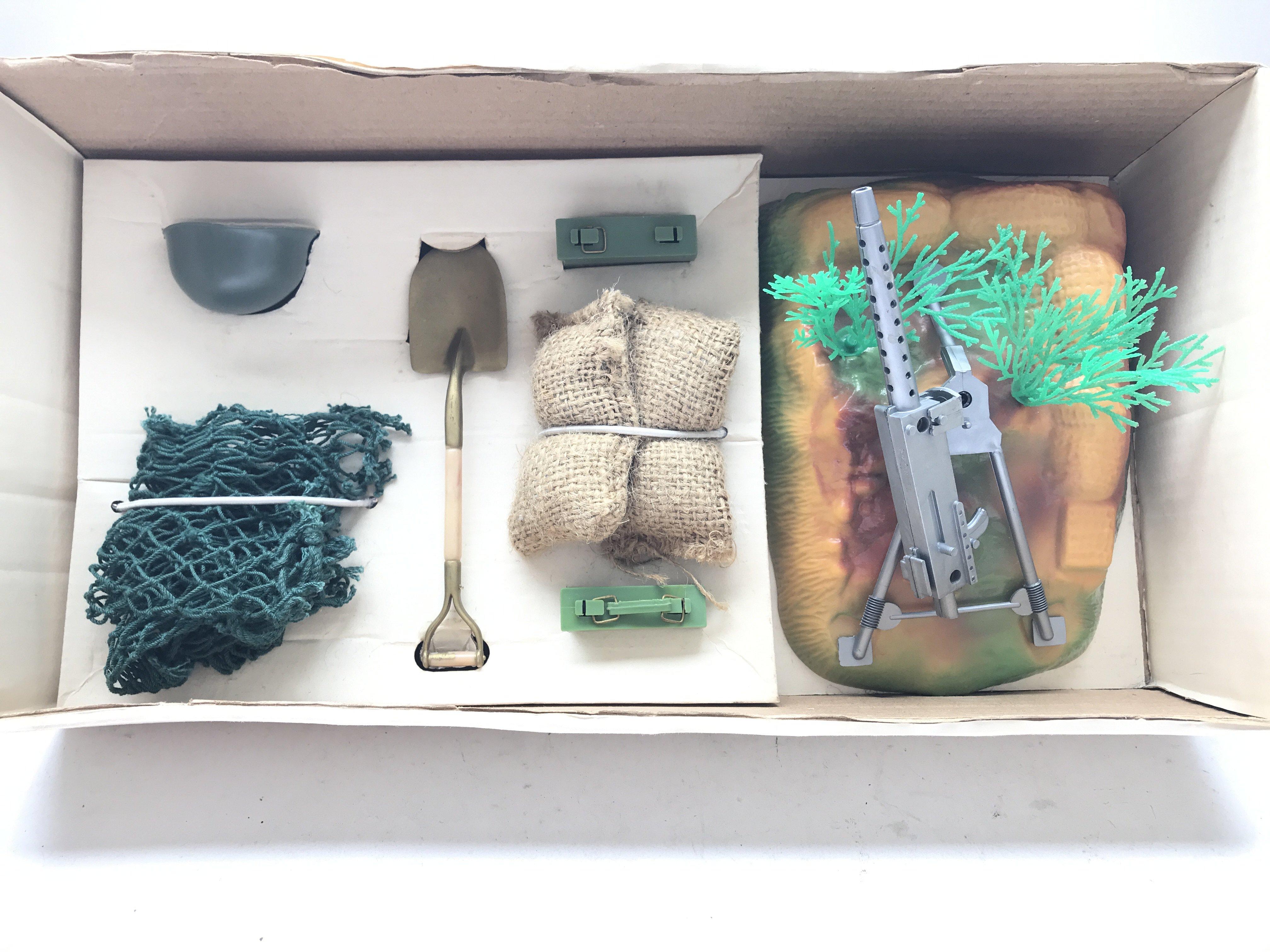 A Vintage Action Man Machine Gun Emplacement. Boxe - Image 2 of 2