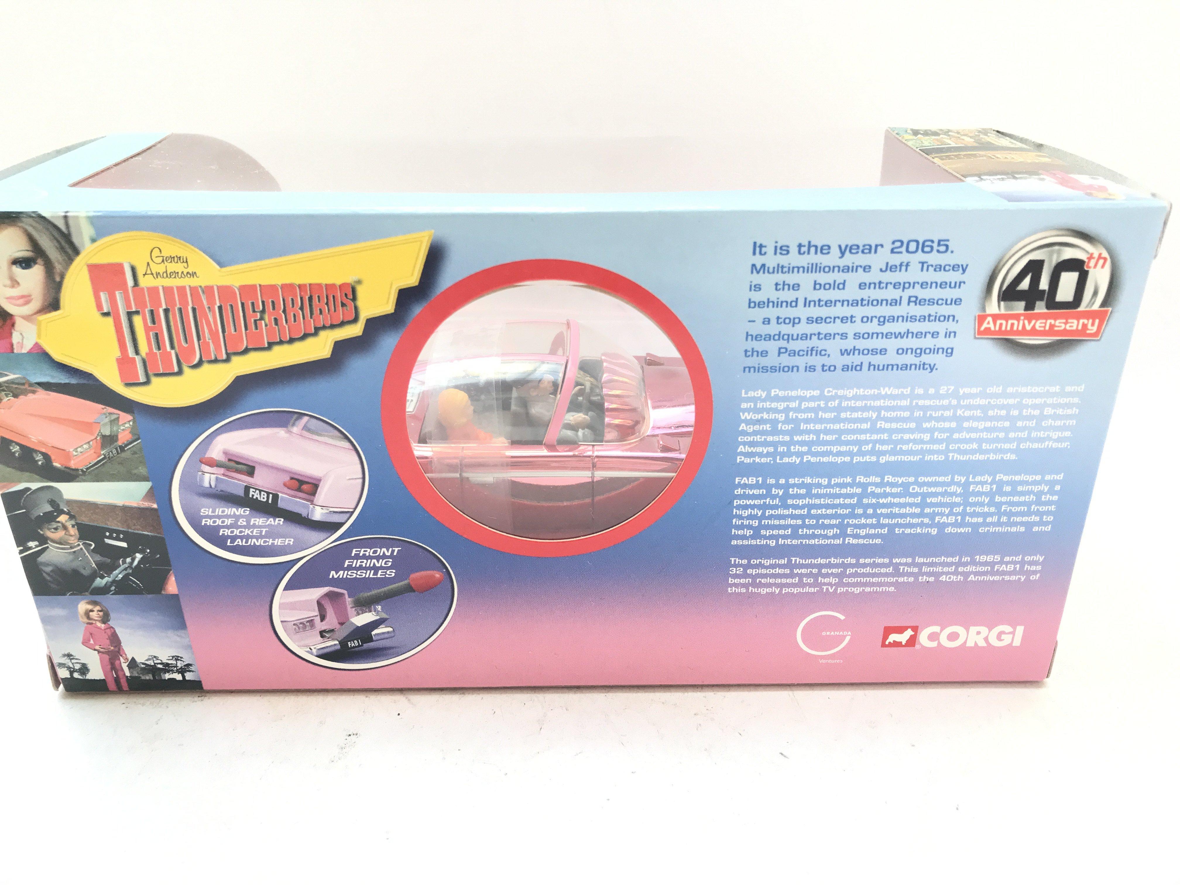 A Boxed Corgi Thunderbirds FAB 1 Limited Edition. - Image 2 of 2