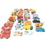 A Box Containing A Collection of Matchbox Cars. (C