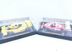 2 X Scalextric Cars including Elf Renault and a Fe