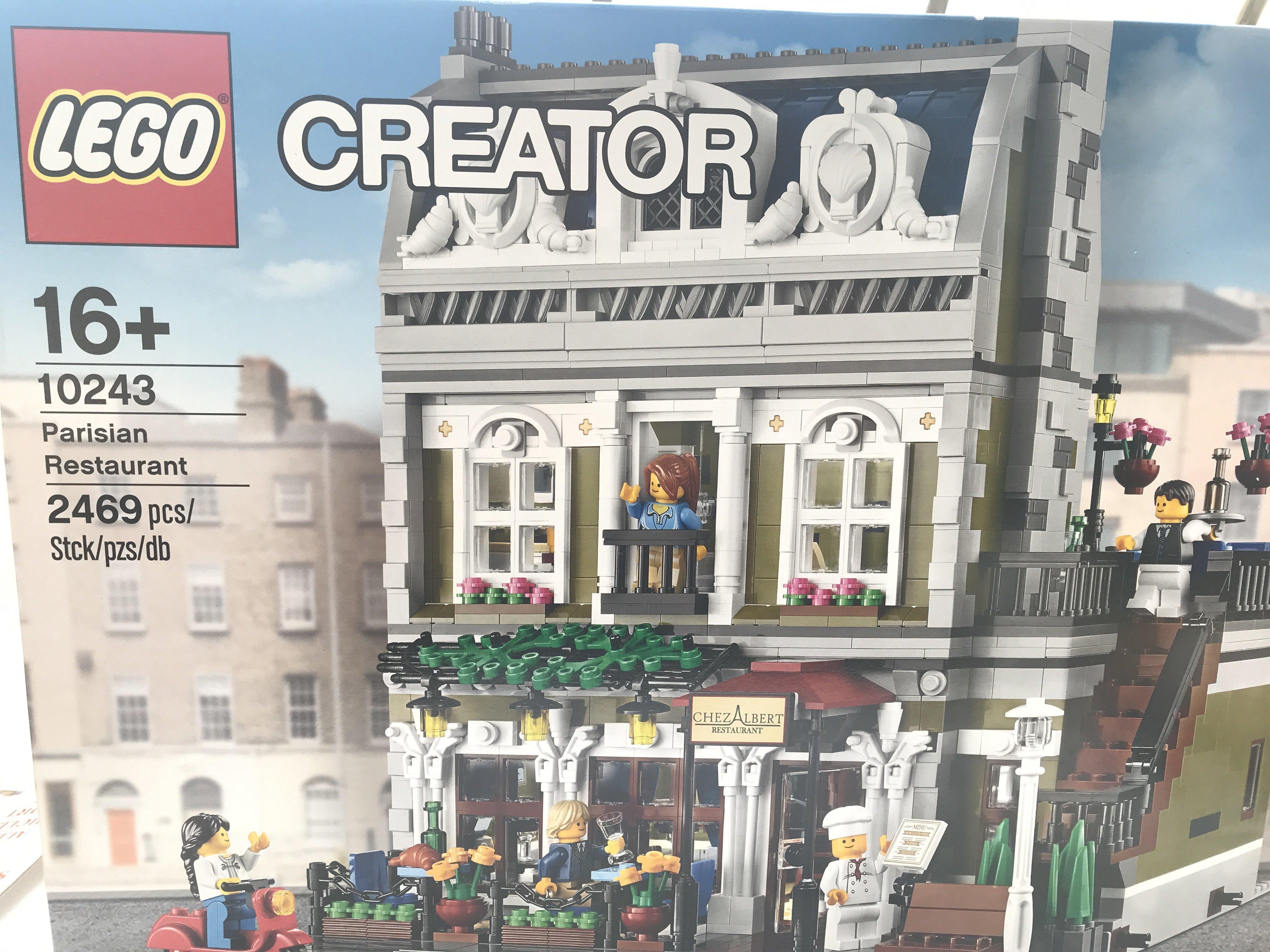 A Boxed Lego Parisian Restaurant 2469 pcs #10243.