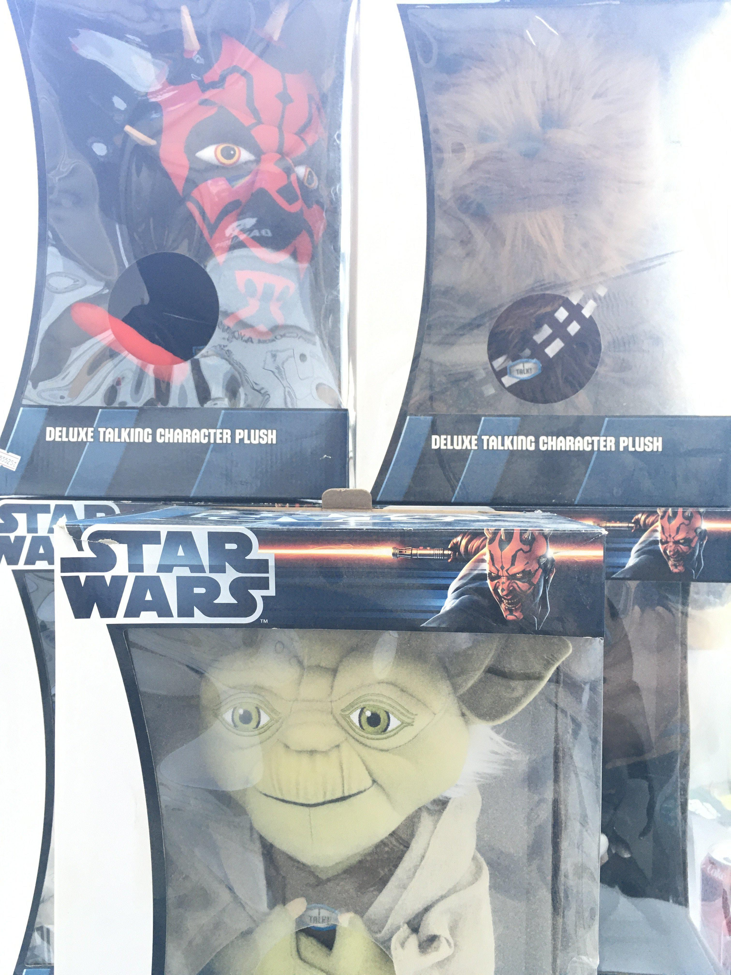 5 X Star Wars Deluxe Talking Character Plush. Incl