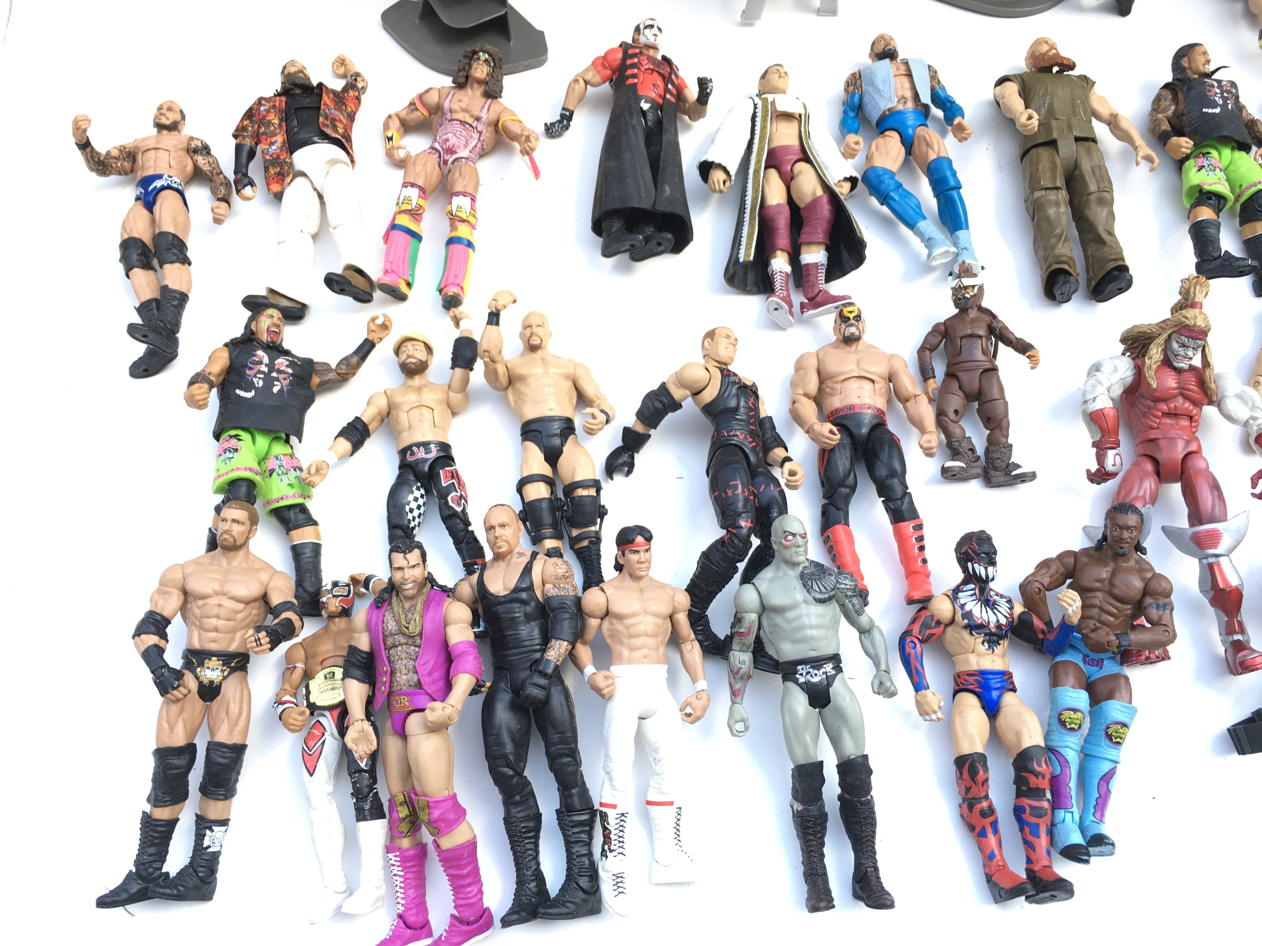 Large collection of WWE wrestling figures. - Image 2 of 3