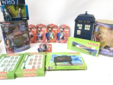 A Box Containing a Collection of Doctor Who Toys.S
