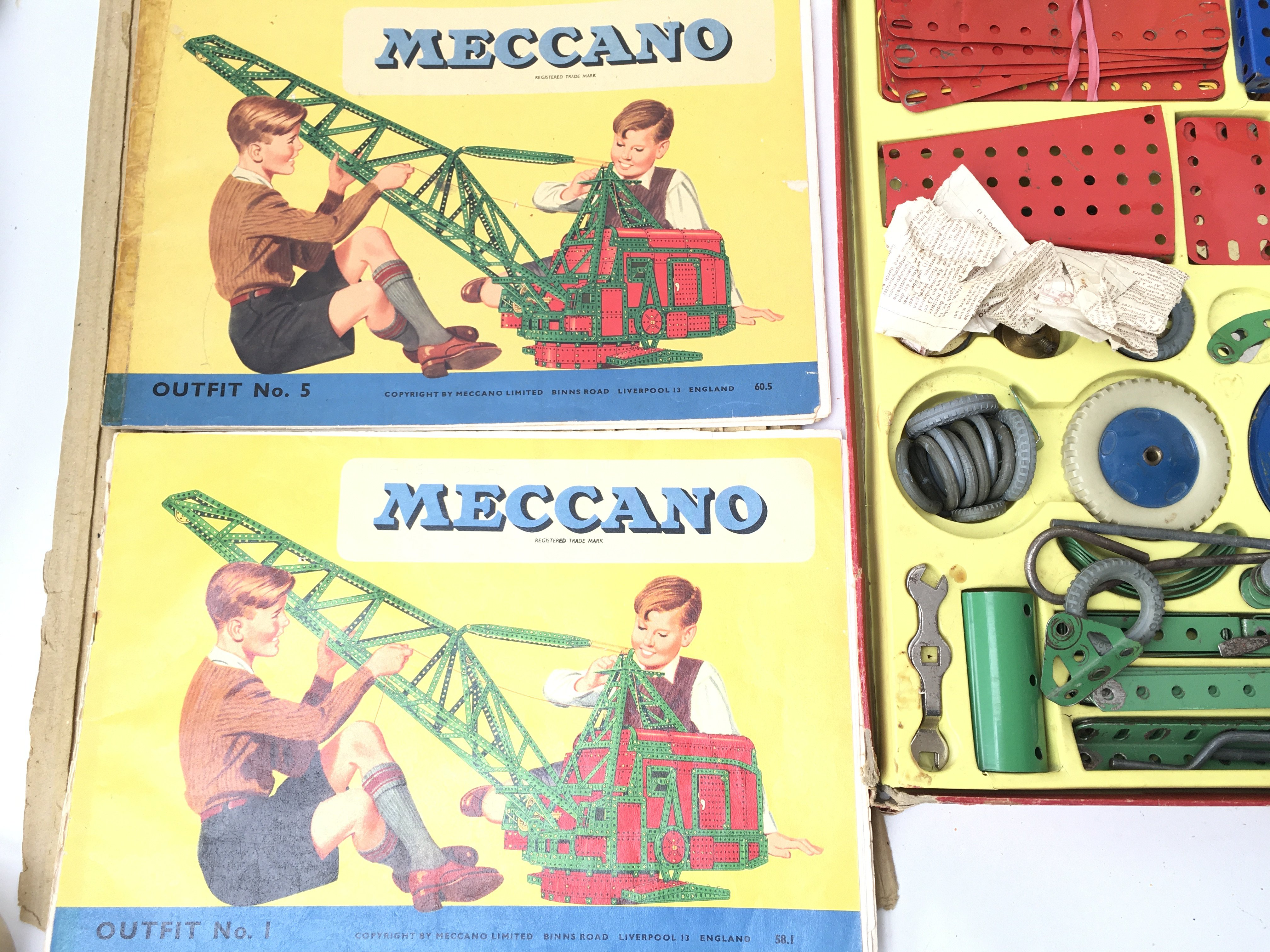 A Boxed Meccano outfit No.5 also includes No.1. - Image 3 of 4