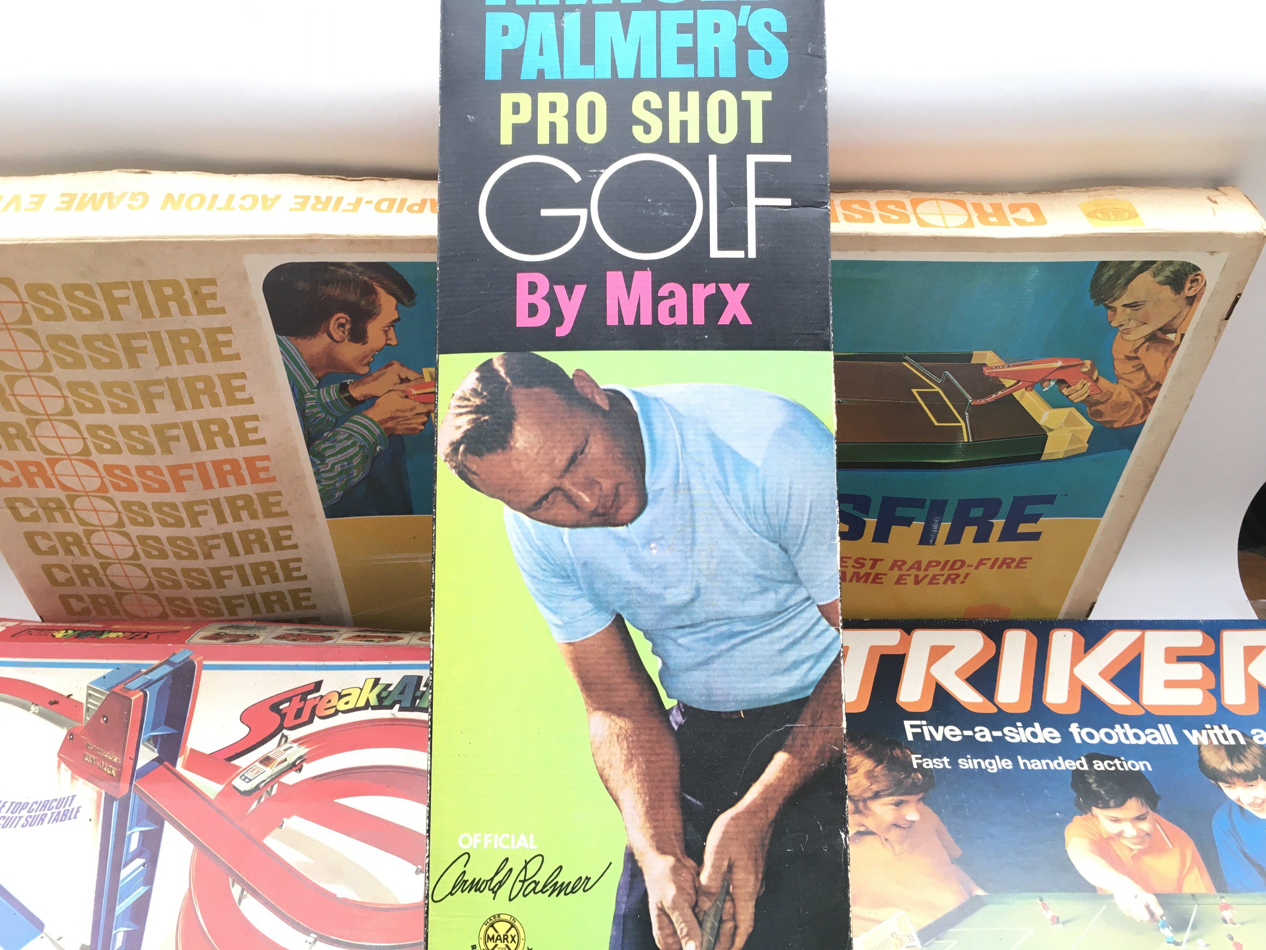 Collection of games including Matchbox. Striker. Arnold Palmer pro golf shot. Crossfire. - Image 5 of 9