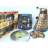 A Collection of Doctor Who Toys including A R/C Dalek. A Corgi 1963-2003 set and. interactive