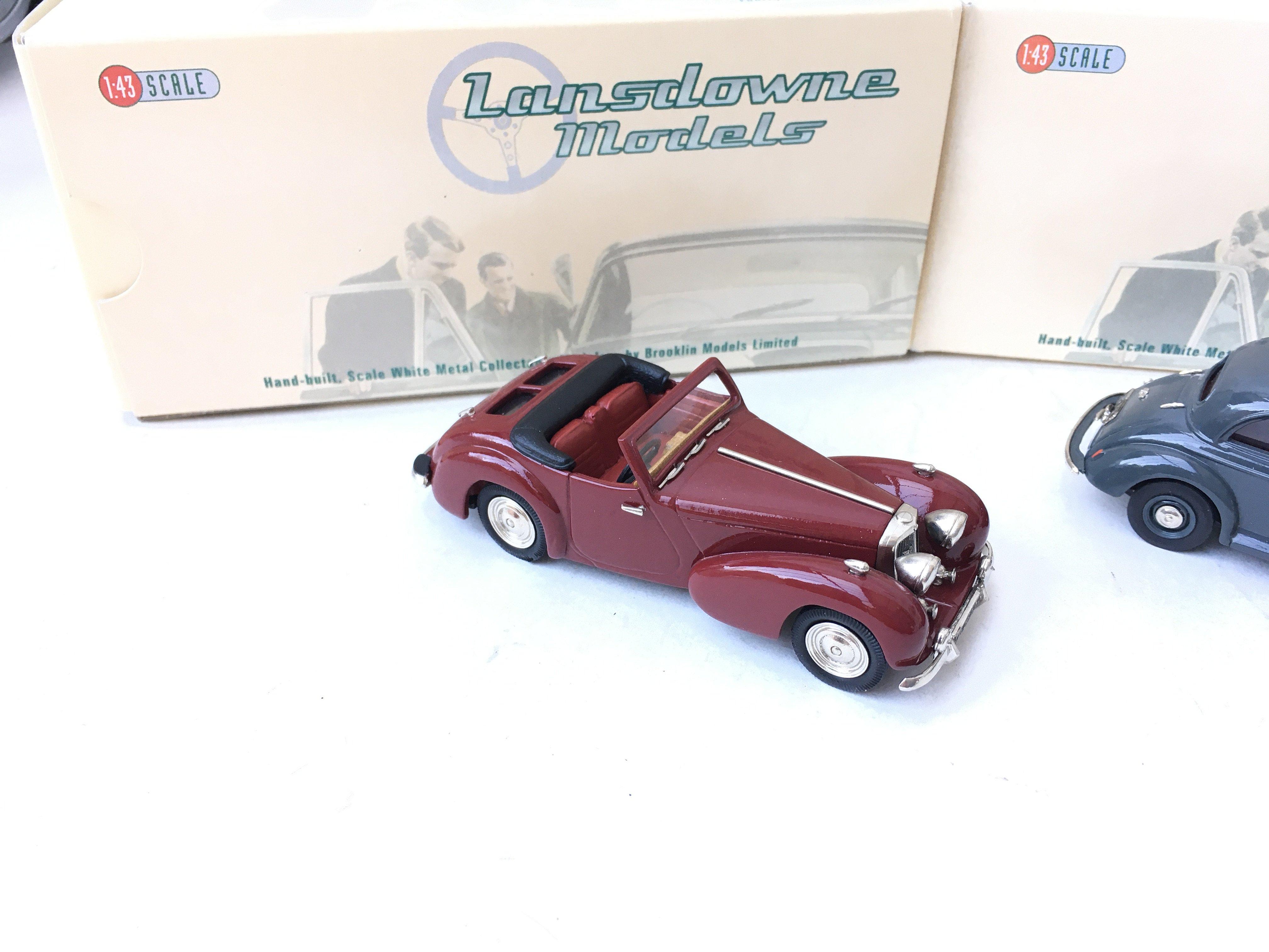 3 X Lansdowne Models including LDM 36 1952 Morris Minor Series II. LDM 37 1949 Triumph 2000 Roadster - Image 2 of 4